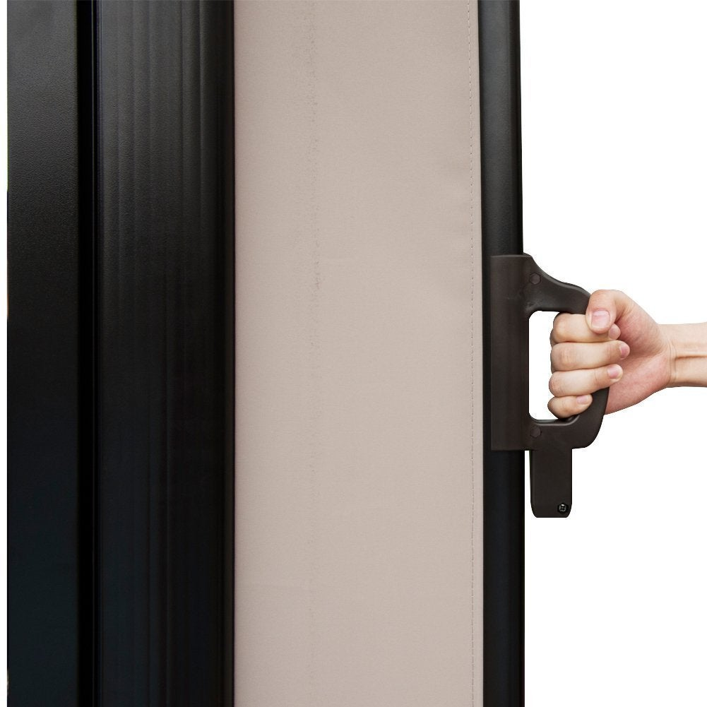 Merveilleux Shop Abba Patio Beige Retractable Folding Screen Privacy Divider   On Sale    Free Shipping Today   Overstock.com   12730125