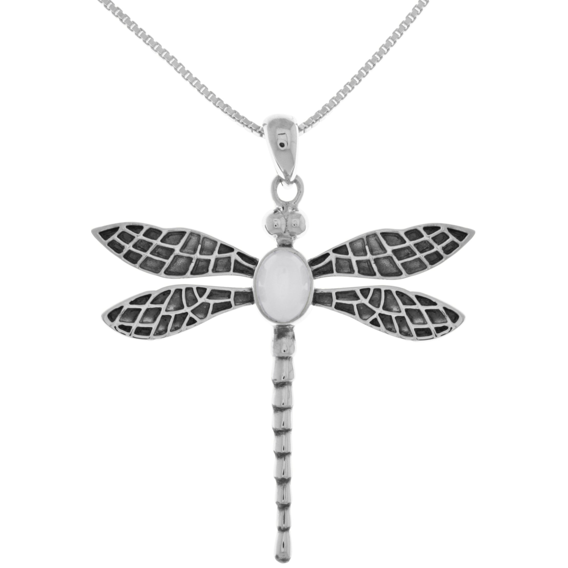 in necklace com crystals sterling ip dragonfly swarovski silver luminesse walmart with pendant