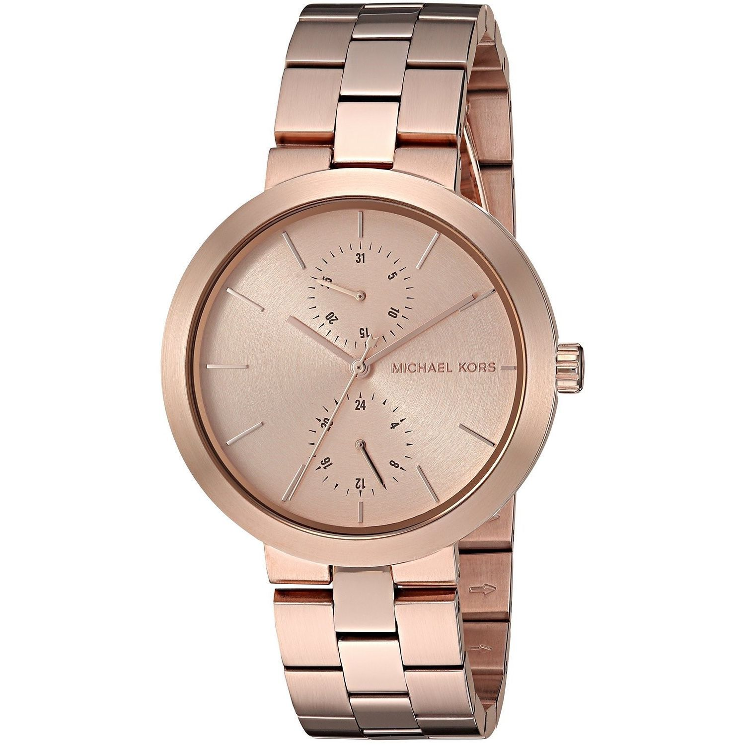 Shop Michael Kors Womens Mk6409 Garner Chronograph Rose Tone