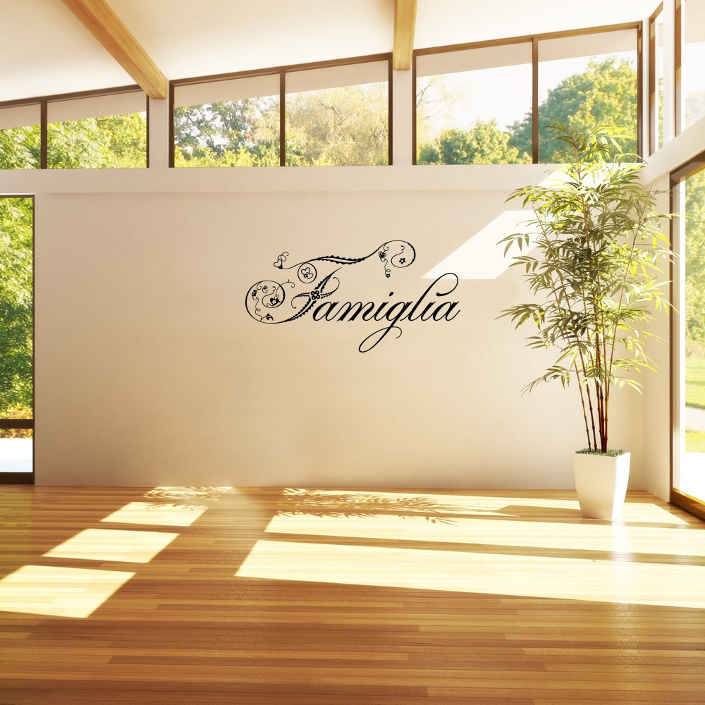 Shop \'Famiglia\' Peel-off Removable Wall Decal - On Sale - Free ...