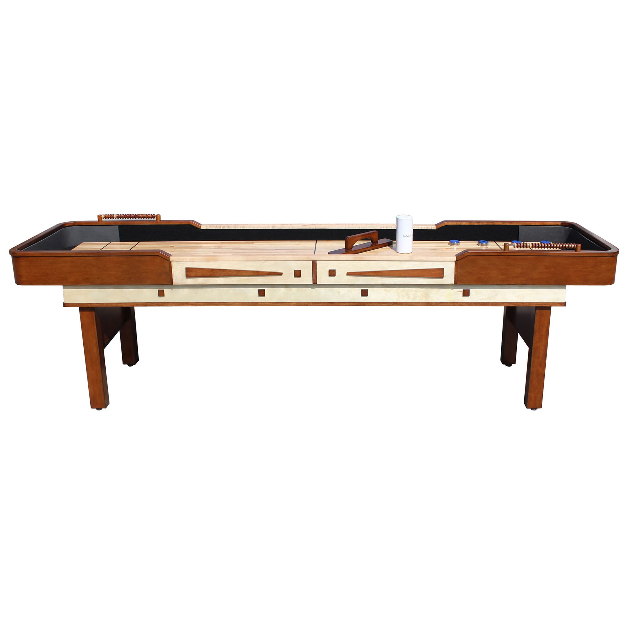 pool dark shuffleboard in shop warehouse challenger cherry table