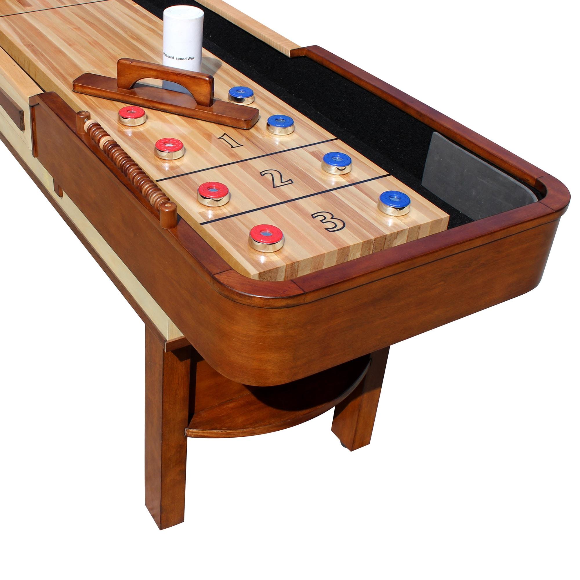 Shop Merlot Ft Shuffleboard Table Free Shipping Today - 12 foot shuffleboard table for sale