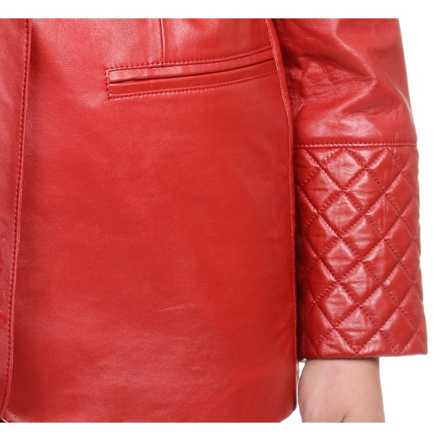 2970243680eda Shop Excelled Women s Plus Leather Lambskin Blazer - Ships To Canada -  Overstock - 12734796