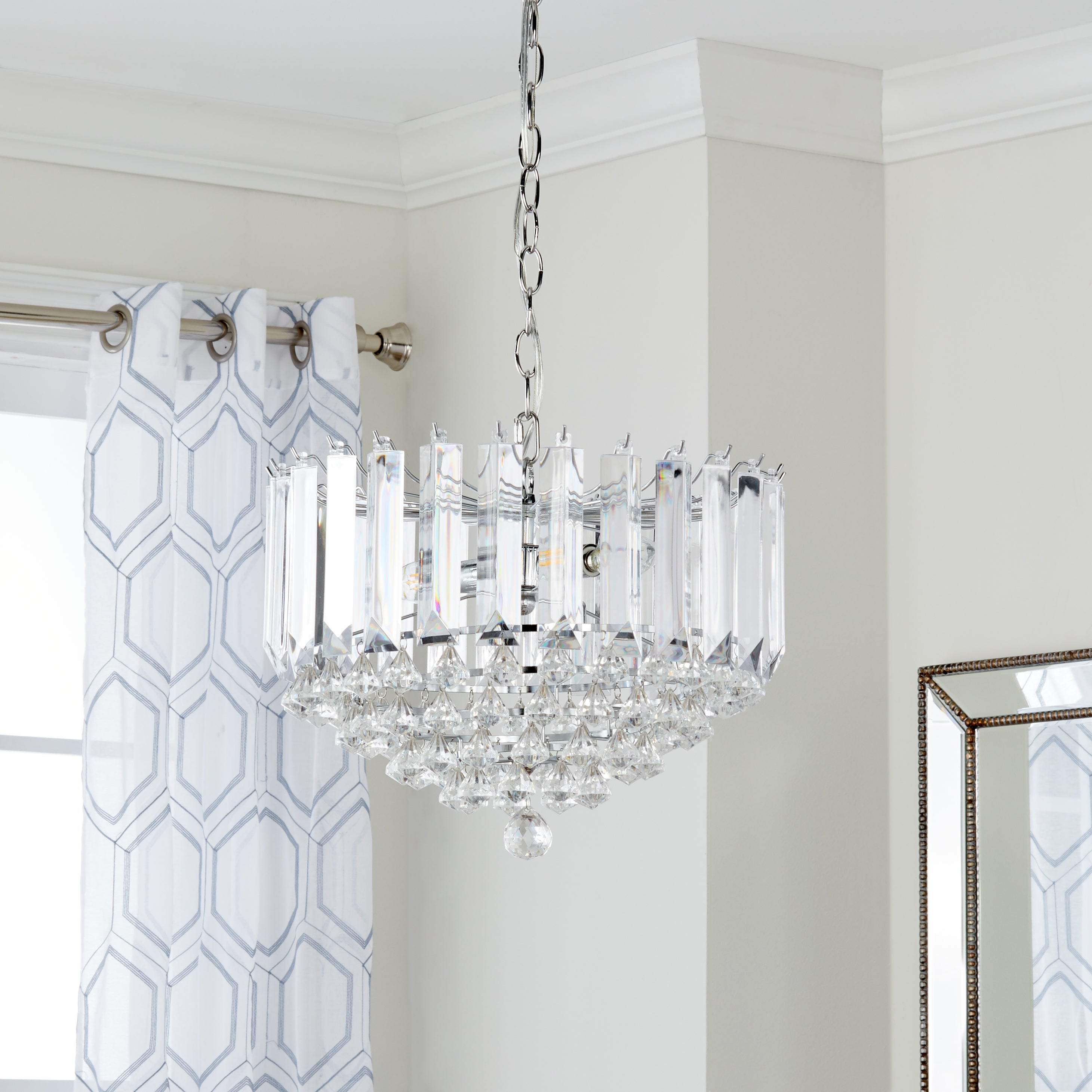 Shop safavieh lighting 165 inch hampton 2 light chrome clear shop safavieh lighting 165 inch hampton 2 light chrome clear adjustable pendant lamp on sale free shipping today overstock 12738519 aloadofball Image collections