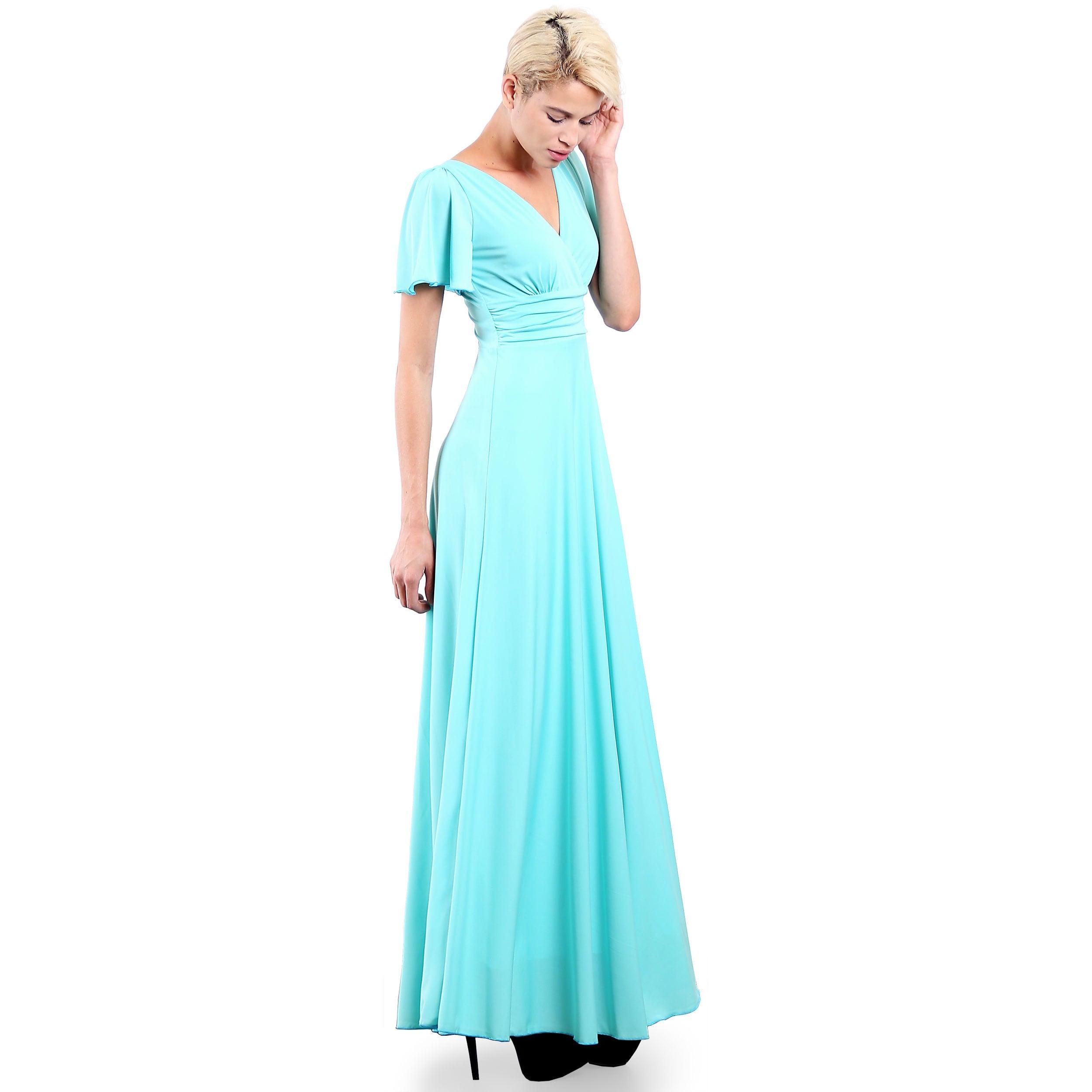 Evanese Women\'s Elegant Slip-on Long Formal Evening Party Dress ...