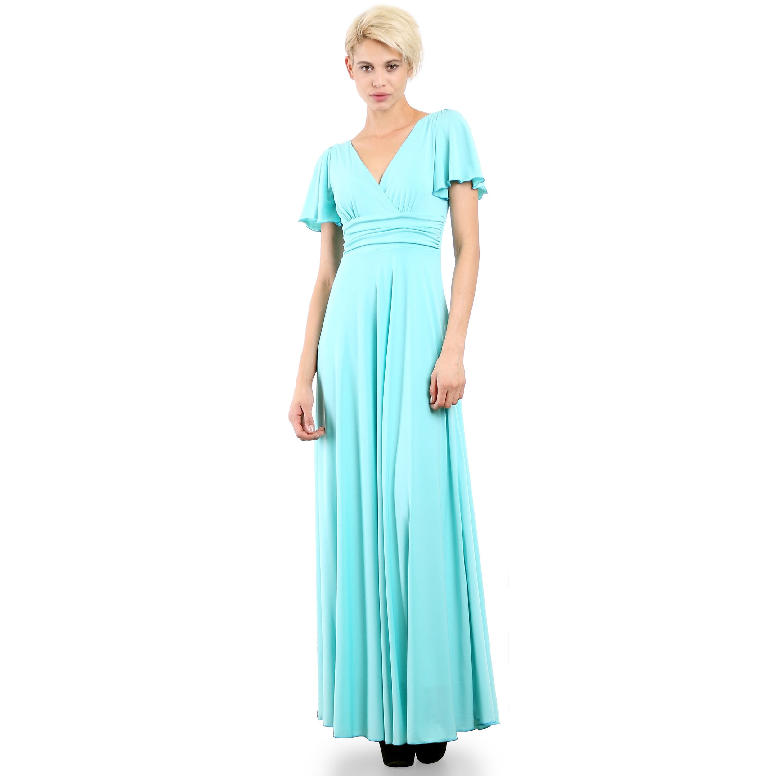 Evanese Women\'s Elegant Slip-on Long Formal Evening Party Dress with ...
