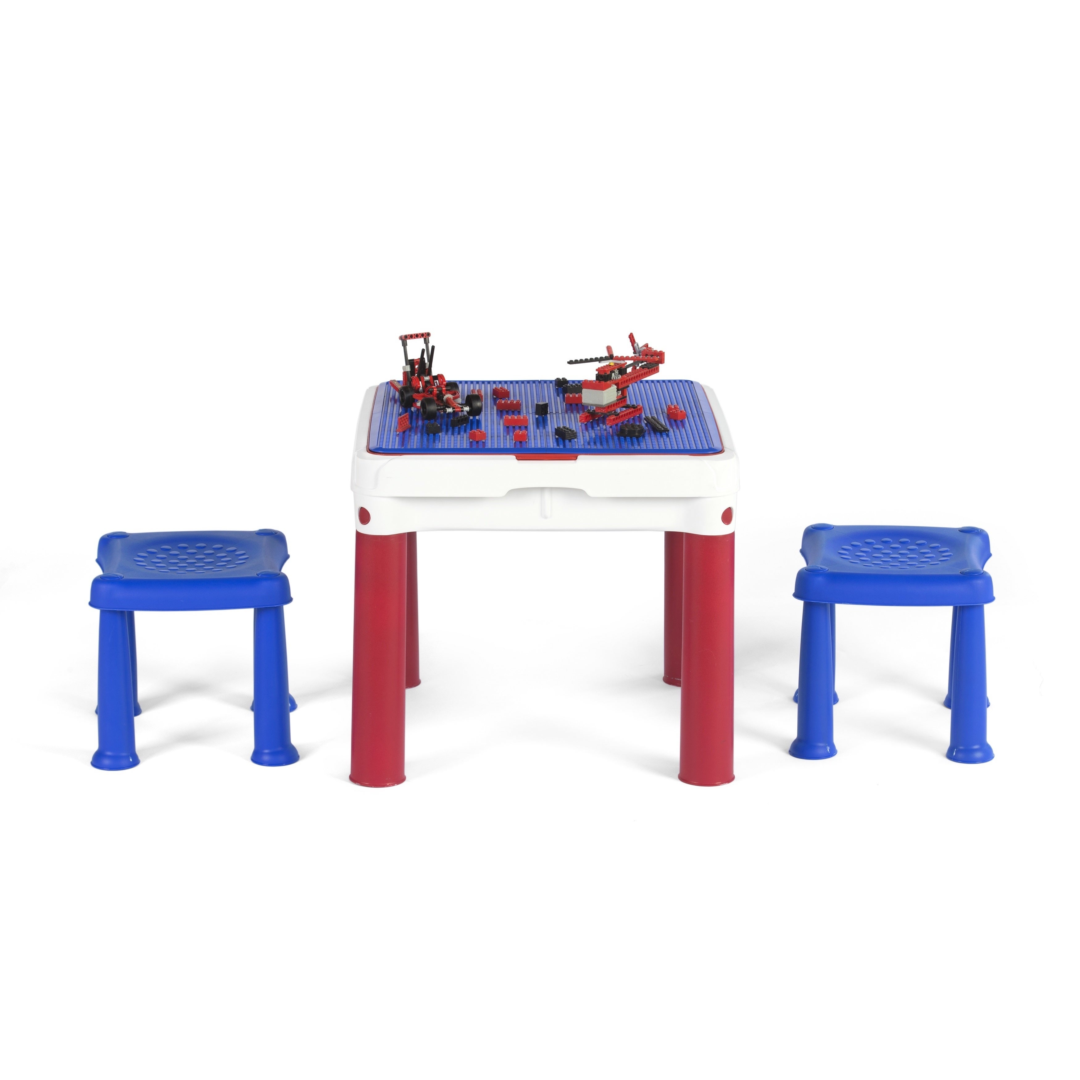 Keter ConstrucTable Kids Activity and Play Table with 2 Chairs - Blue -  Free Shipping Today - Overstock.com - 19517722