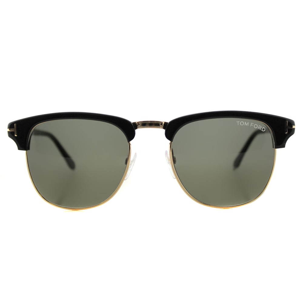 baf2120adf2 Shop Tom Ford TF 248 05N Henry Vintage Black Plastic Fashion Green Lens  Sunglasses - Free Shipping Today - Overstock - 12748282