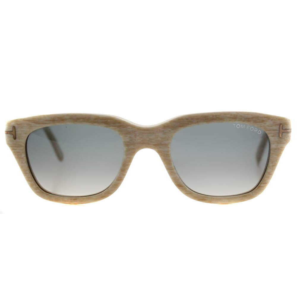 e7132c8a42333 Shop Tom Ford TF 237 60B Snowdon Beige Plastic Rectangle Grey Gradient Lens  Sunglasses - Ships To Canada - Overstock.ca - 12748287