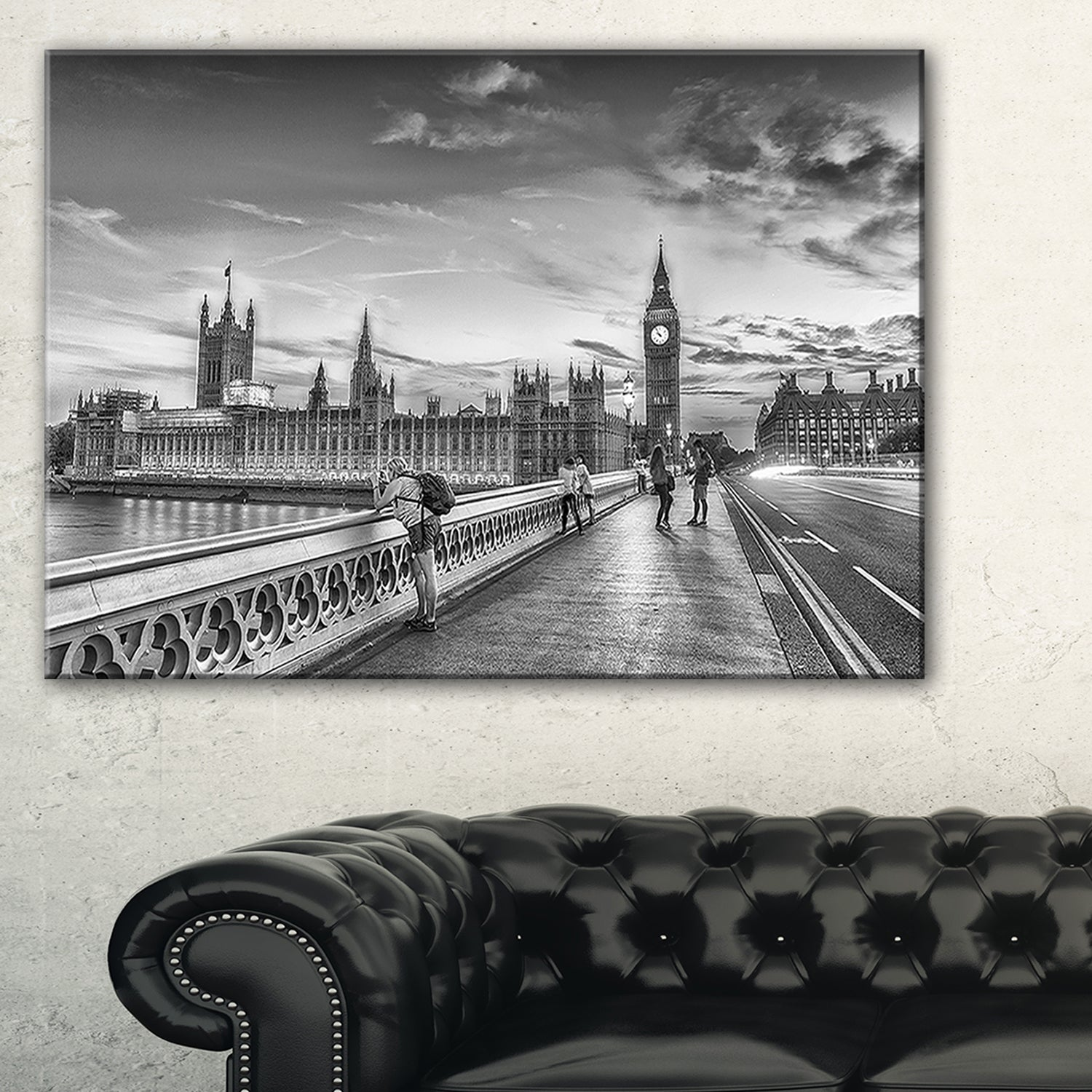 Shop beautiful black and white london view cityscape glossy metal wall art free shipping on orders over 45 overstock com 12750047