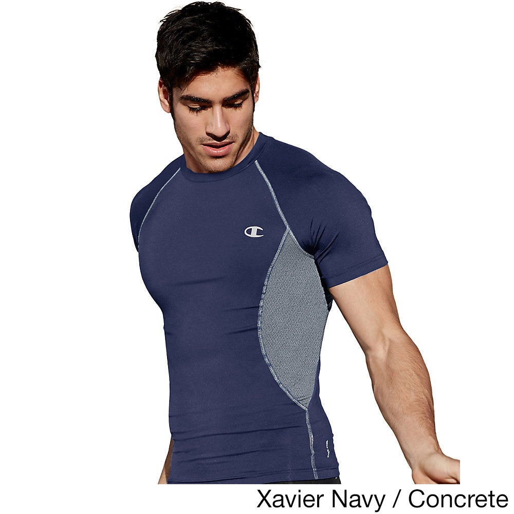 476def4668f Shop Champion Gear Men s Polyester Spandex Compression Short-sleeve T-shirt  - Free Shipping On Orders Over  45 - Overstock - 12750418