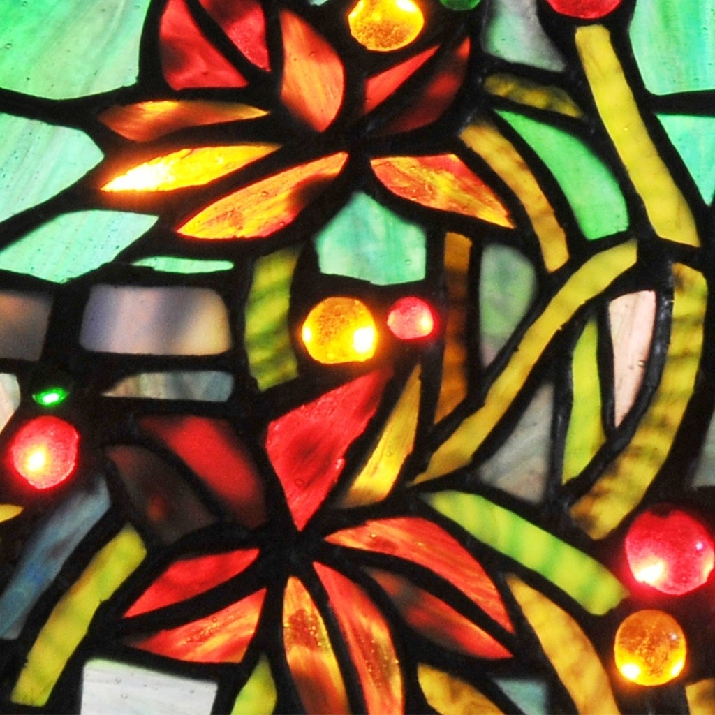 Shop River of Goods Hampstead Multicolored Stained Glass 34-inch ...
