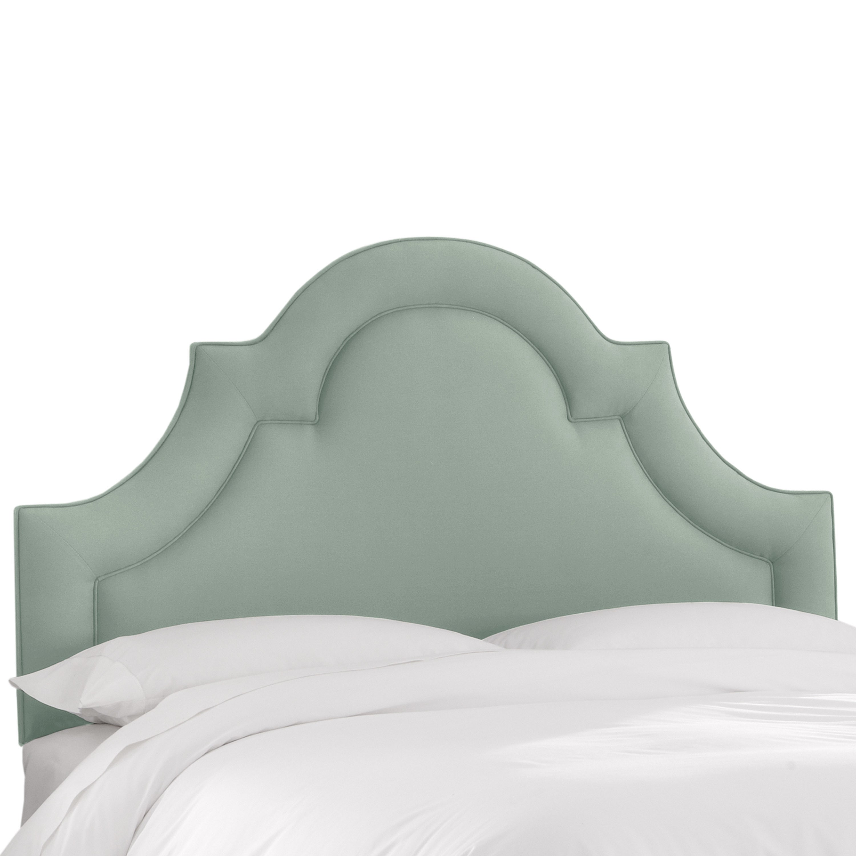 Shop skyline furniture linen swedish blue arched border headboard on sale free shipping today overstock com 12751816