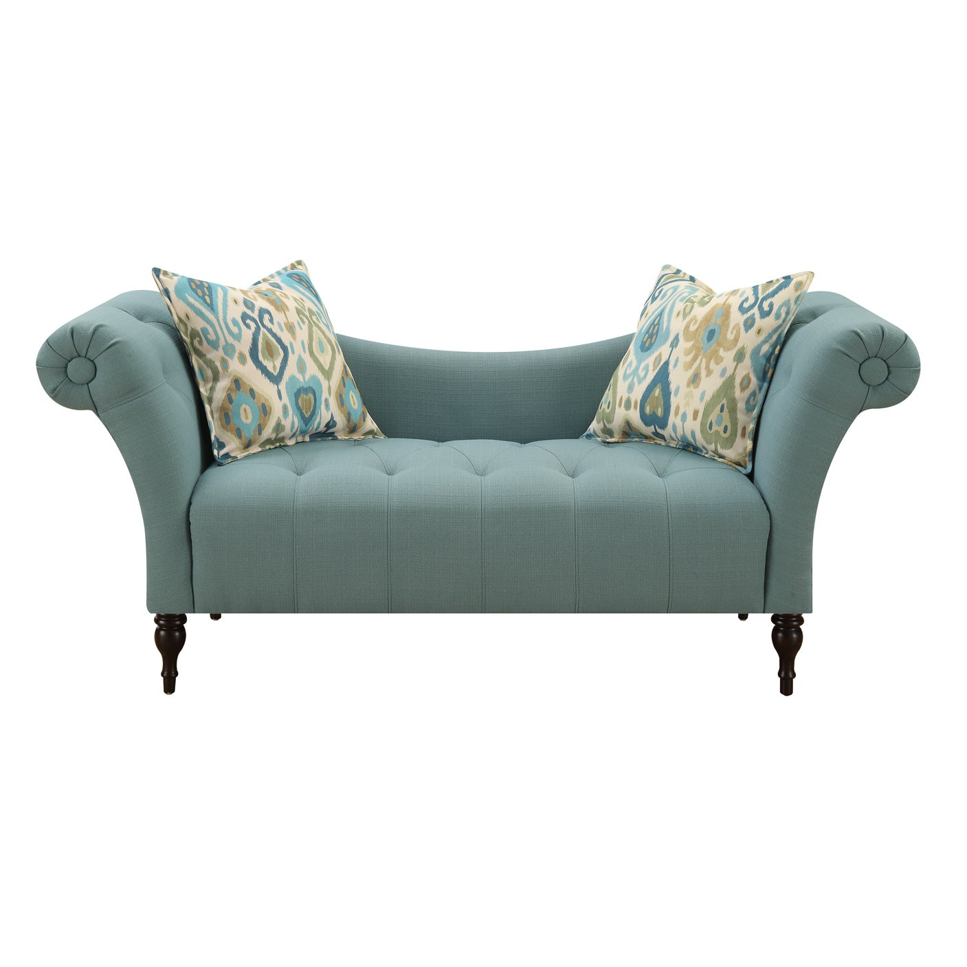 Shop Emerald Home Lucille Transitional High Arm Settee   Free Shipping  Today   Overstock.com   12754084