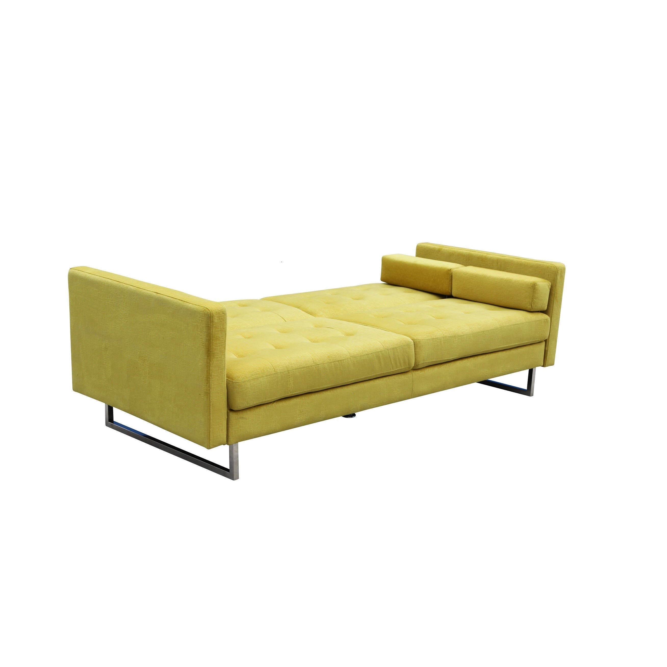 Verona Butter Yellow Suede Sleeper Sofa Free Shipping Today