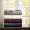 Bombay Victoria Pieced Ruched Pinsonic Crystal Velvet Bedsize Throw 4-Color Option