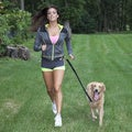 LucyBelle Pets Black Nylon Hands-free Running Dog Leash