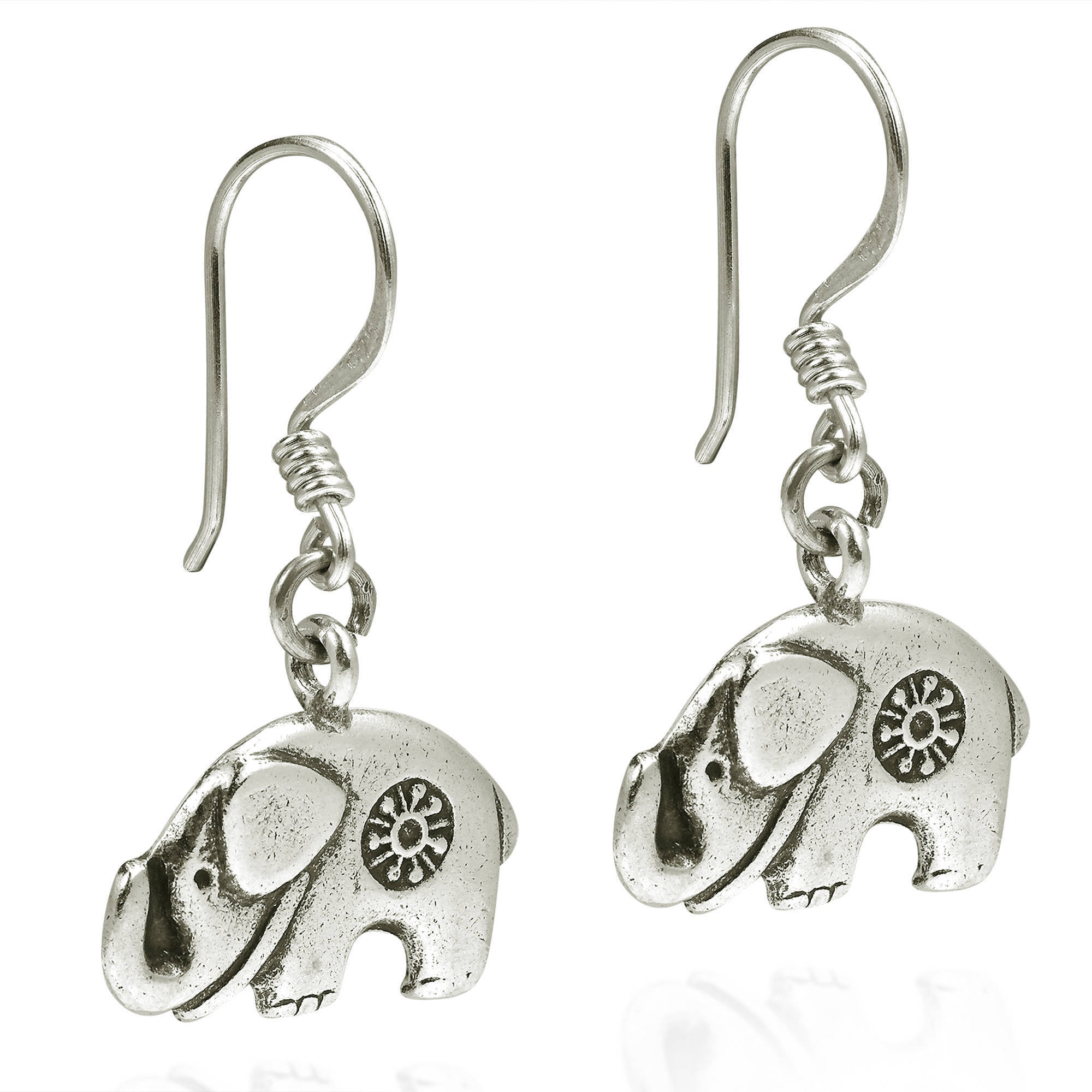 3a0b46d64 Shop Handmade Karen Hill Tribe Mountain Elephant Silver Dangle Earrings ( Thailand) - Free Shipping On Orders Over $45 - Overstock - 12775852