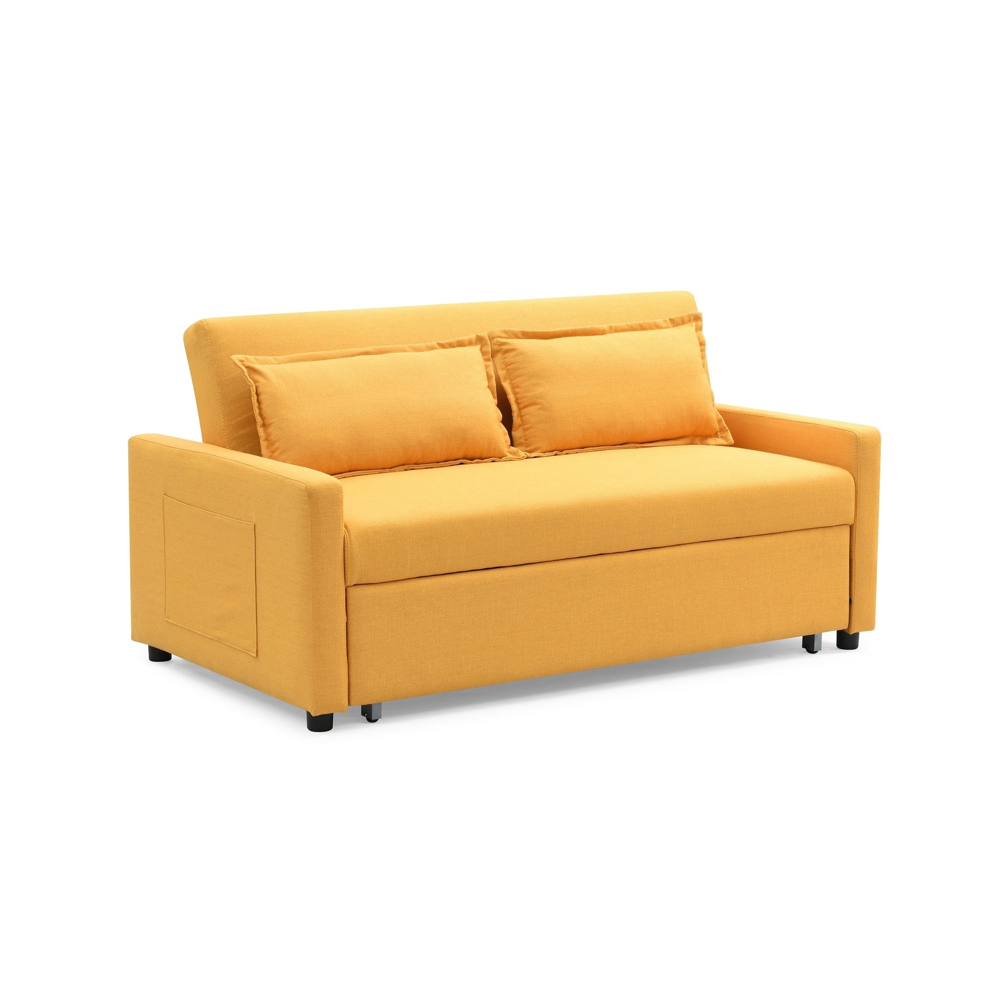 Ledersofa modern  Modern Convertible Sofa with Pullout Bed - Free Shipping Today ...