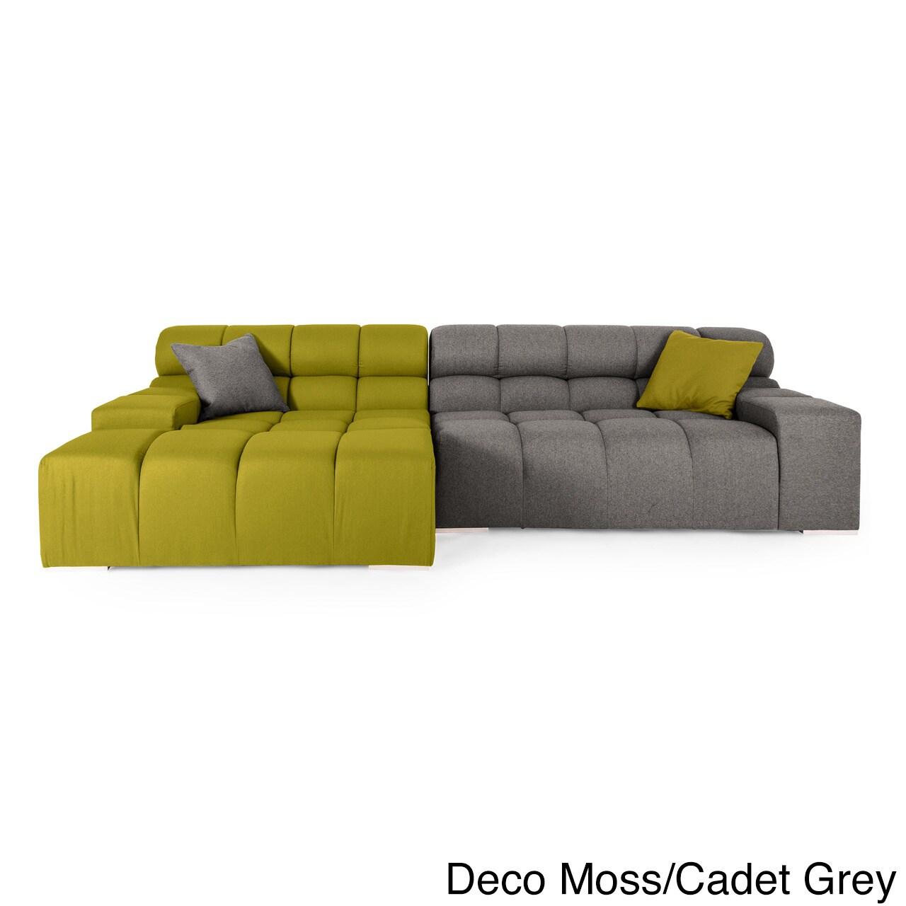 Karl Cubix Modern Modular Premium Cashmere Left Sofa Sectional Free Shipping Today 12776877