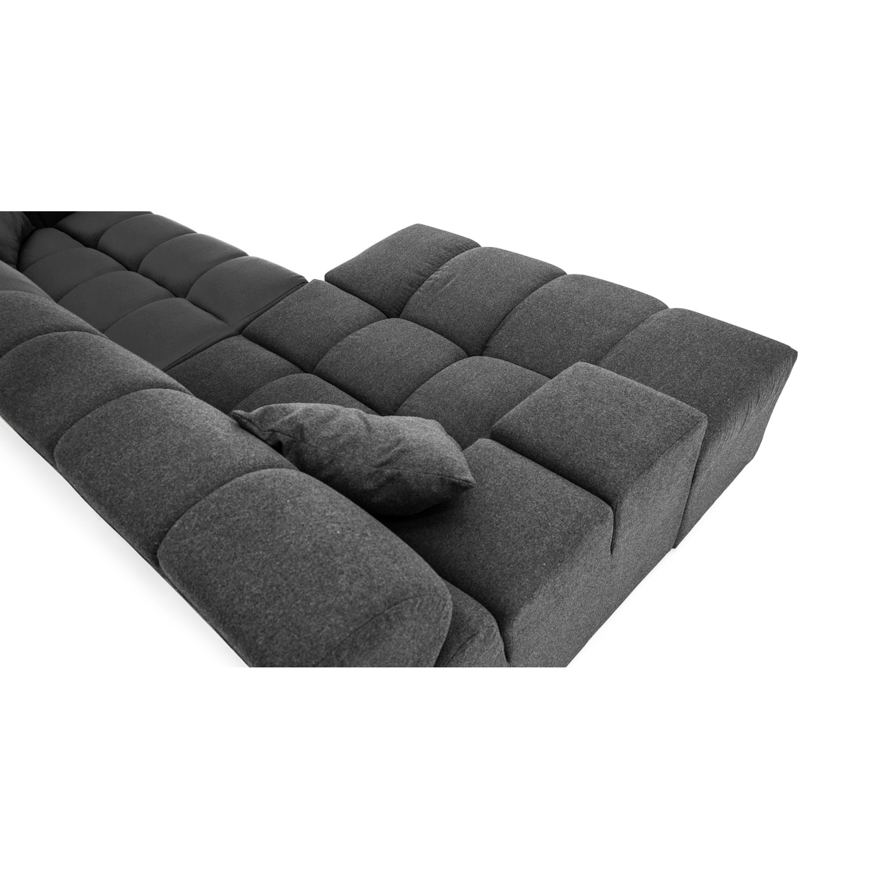 Karl Cubix Modern Modular Premium Cashmere Left Sofa Sectional Free Shipping Today 12776877
