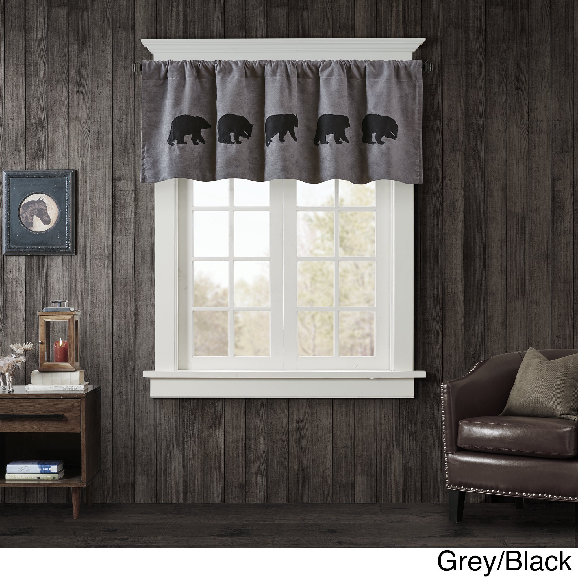 Shop Woolrich Bear Faux Suede Window Valance - Free Shipping On ...
