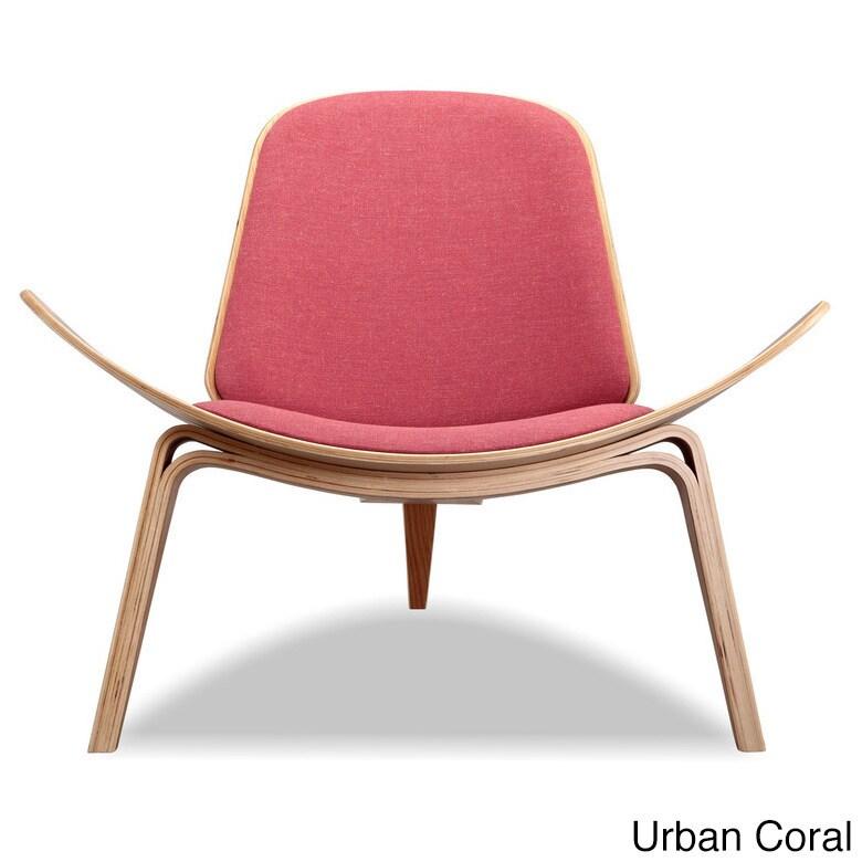 Shop Kardiel Tripod Mid-Century Modern Premium Fabric Lounge Chair ...