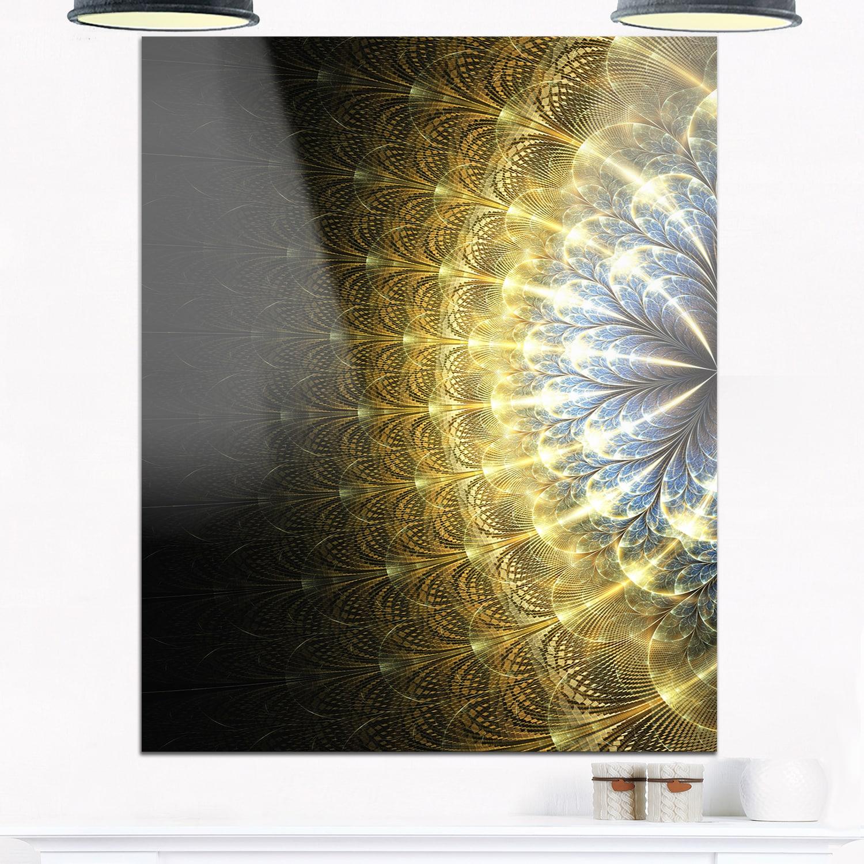 Shop Amazing Gold Symmetrical Fractal Flower - Modern Floral Glossy ...