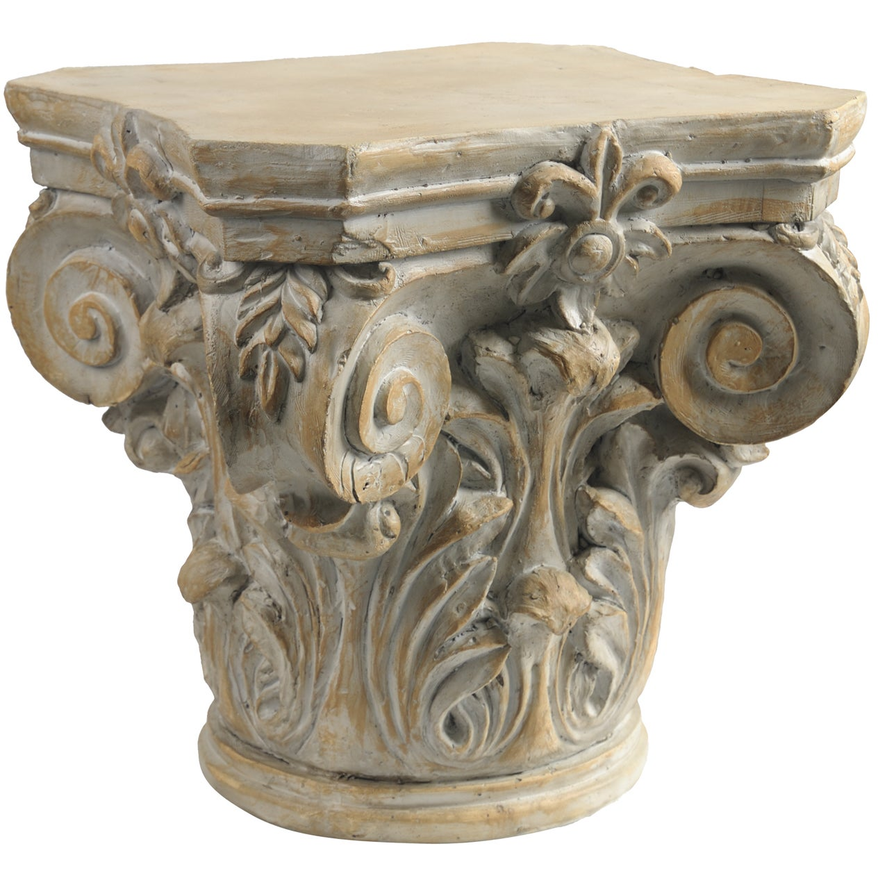 outdoor pedestal weathered display brown stand roman large christmas style