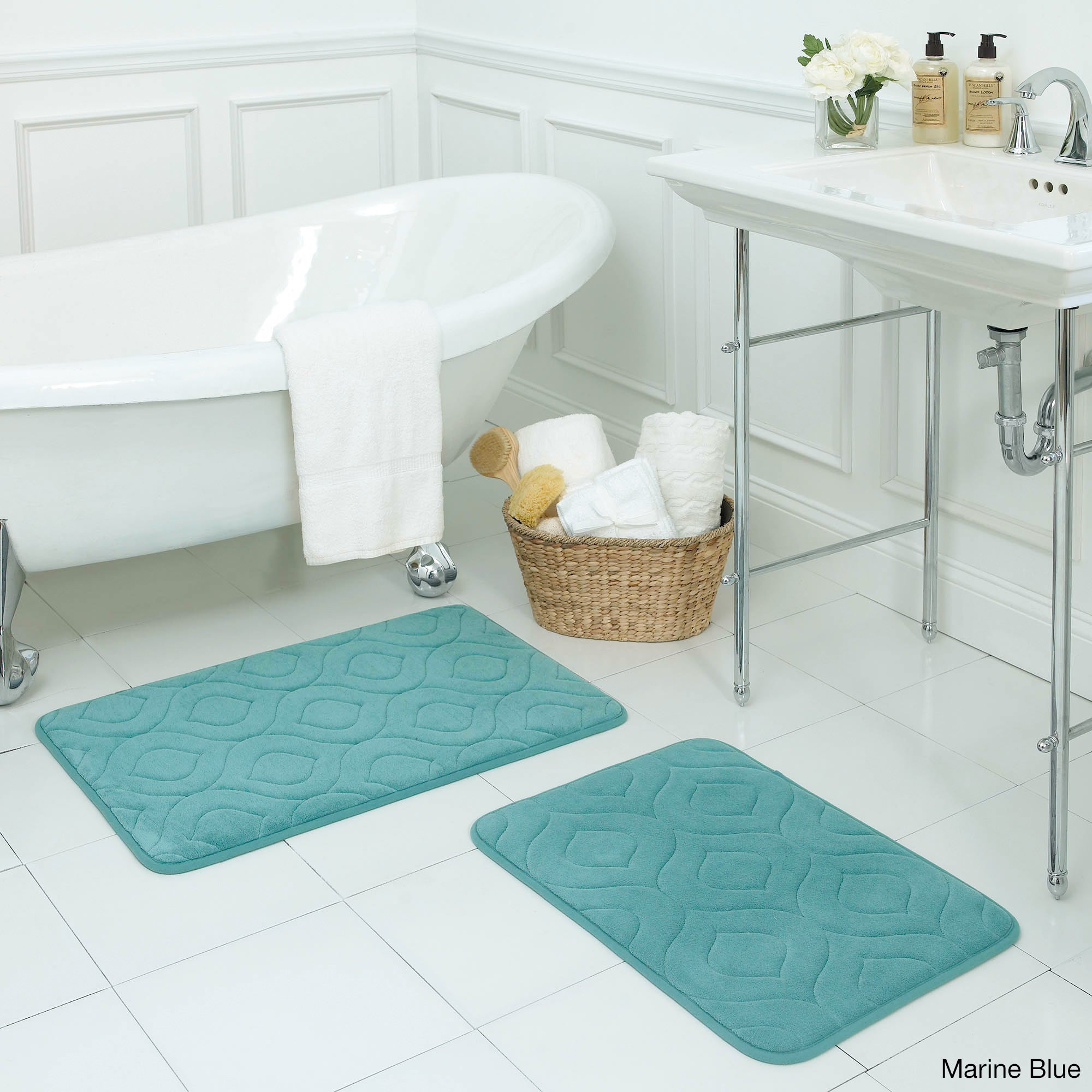 b2ea5340e90 Shop Naoli Micro Plush 17 x 24-inch 2-piece Memory Foam Bath Mat Set with  BounceComfort Technology - Free Shipping On Orders Over  45 - Overstock.com  - ...