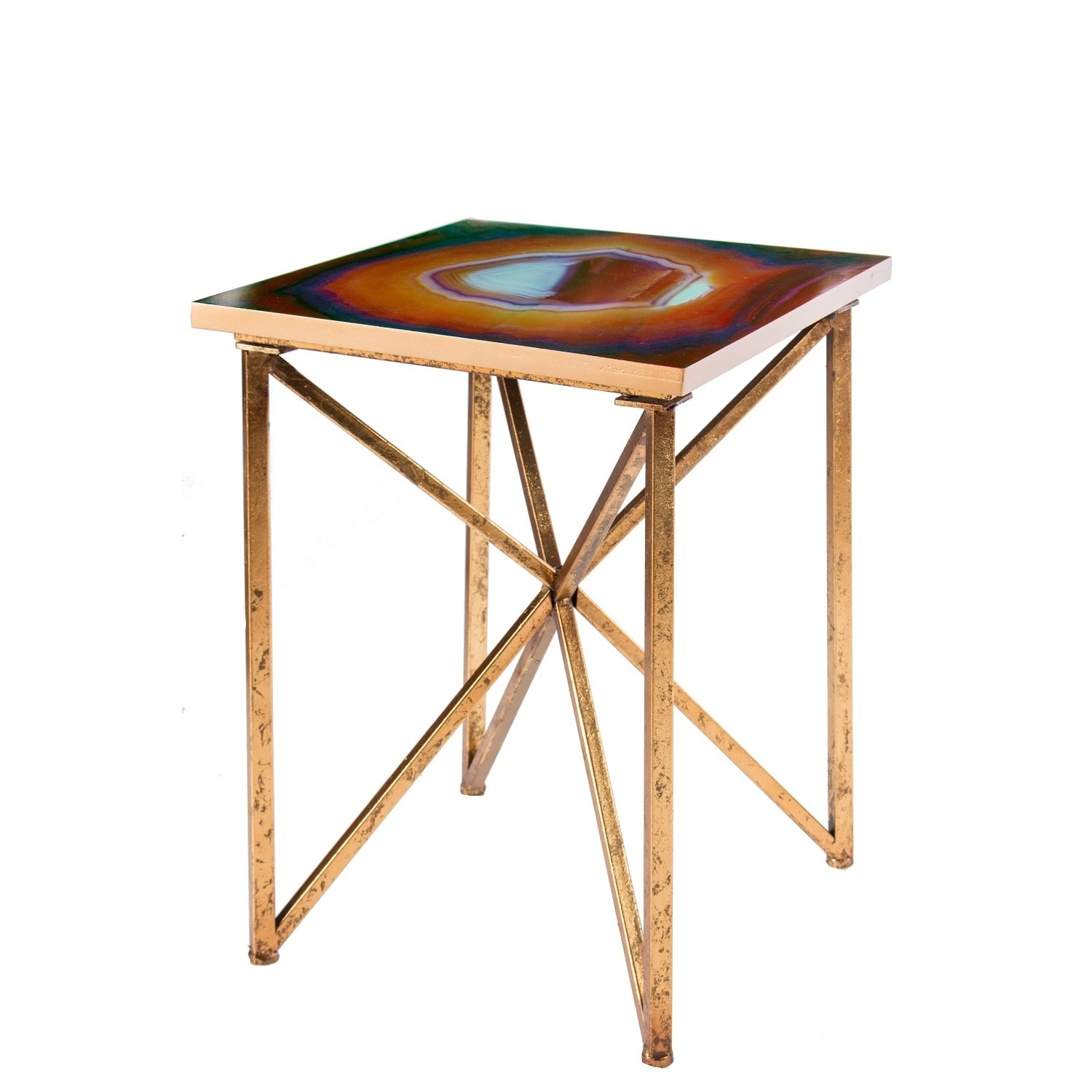 Rouge Agate Side Table Free Shipping Today Overstock