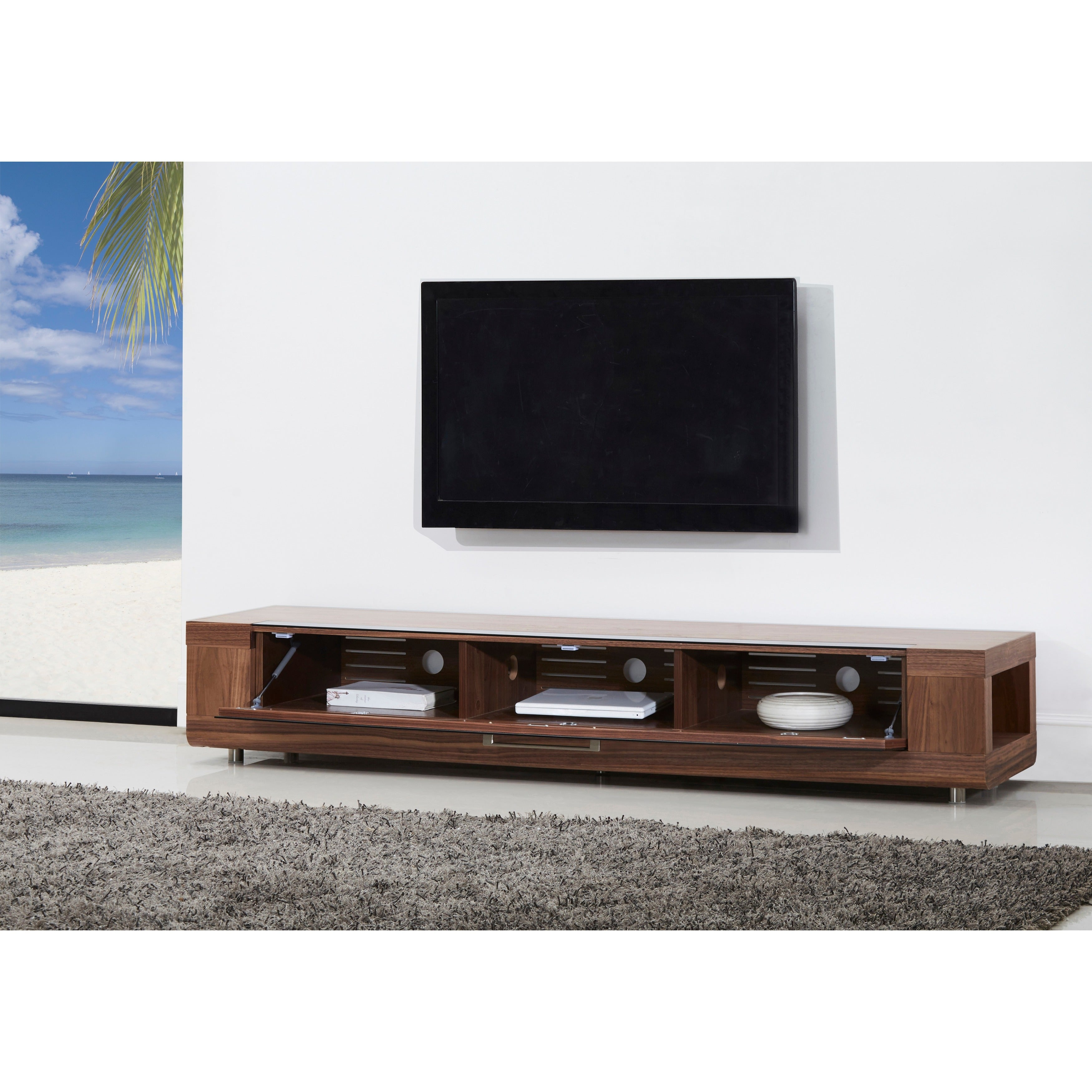 Shop Roma Remix IR-reymote compatible TV Stand - Free Shipping Today ...