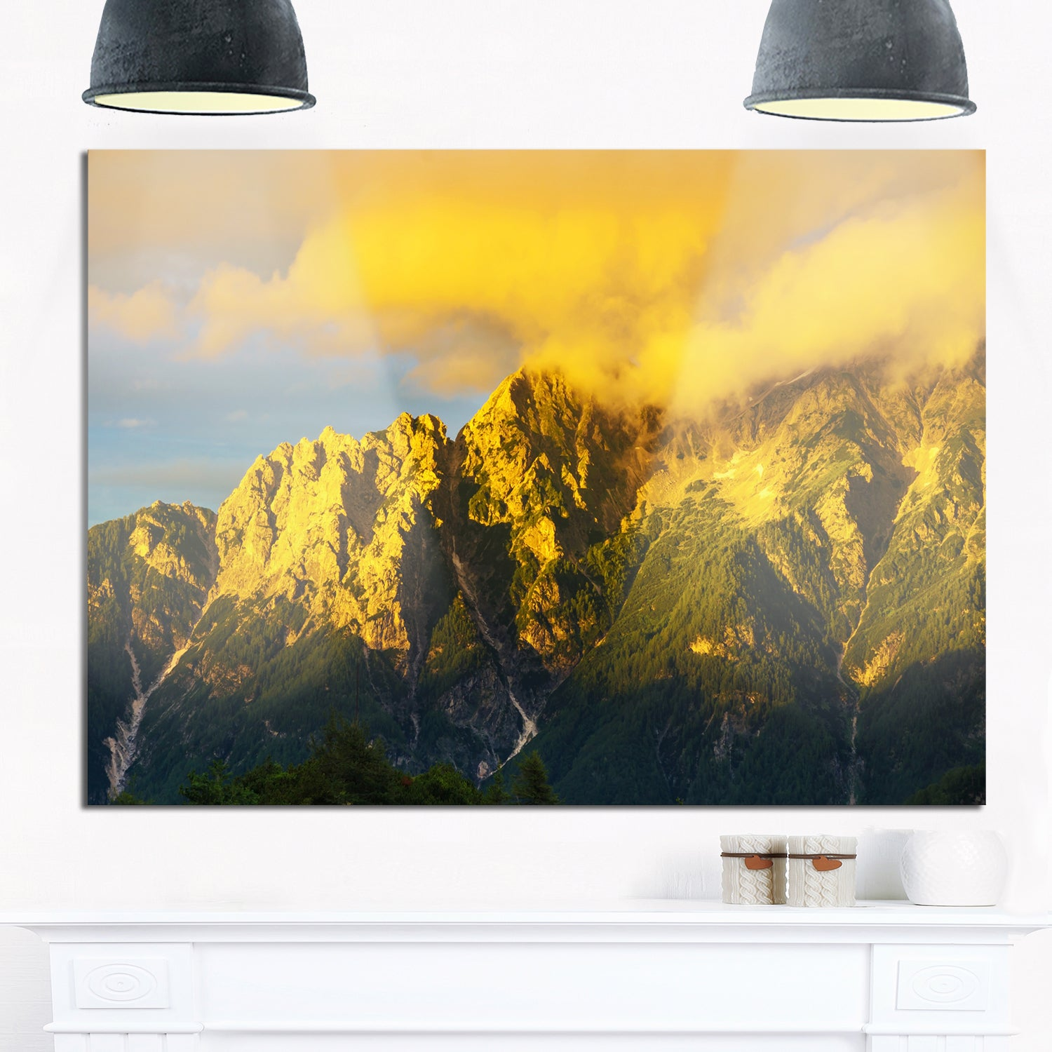 Highrise Green Mountains - Landscape Photo Glossy Metal Wall Art ...