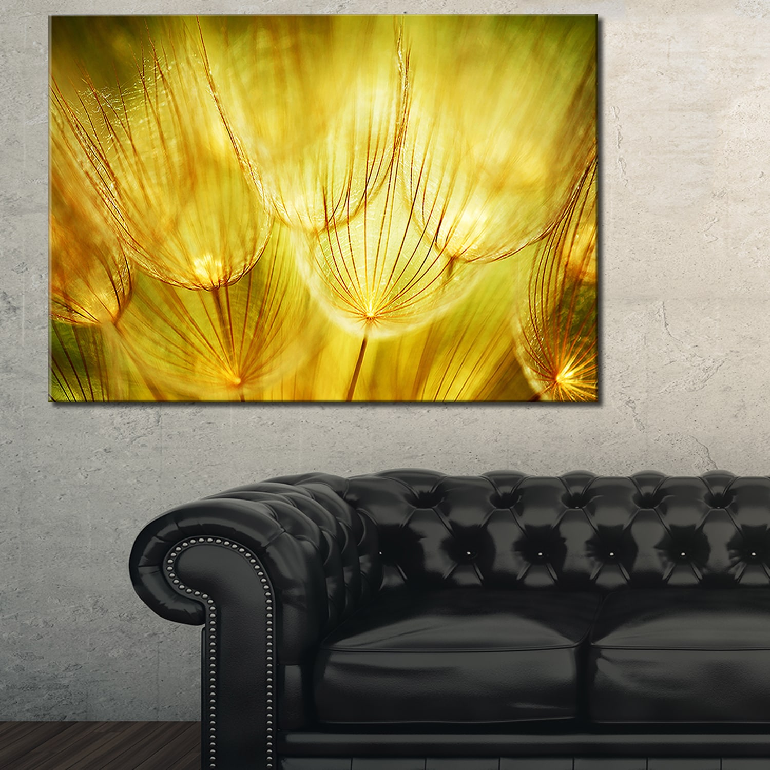 Soft Yellow Dandelion Flowers - Floral Photography Glossy Metal Wall ...