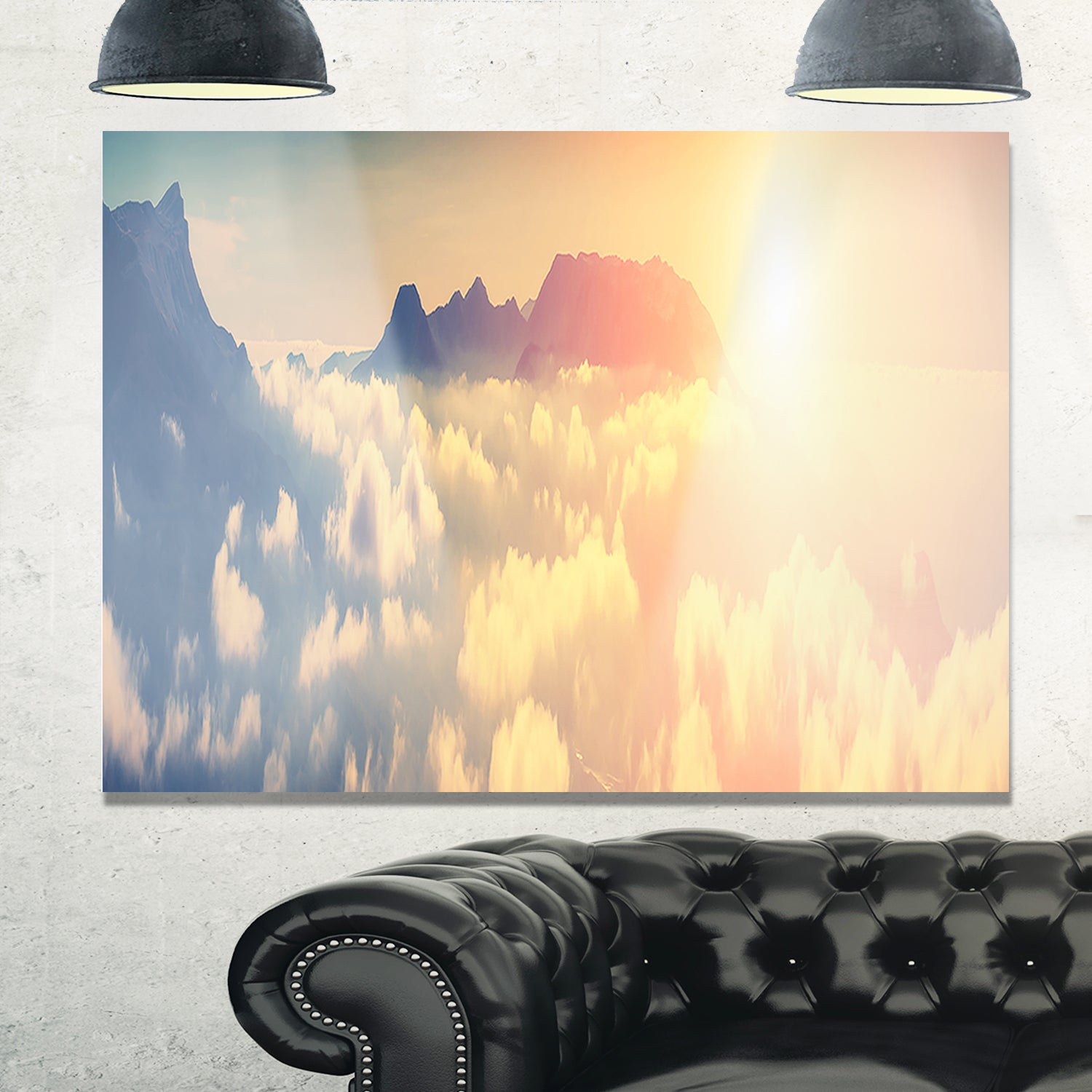 Shop Sky above Floating Clouds - Contemporary Landscape Glossy Metal ...