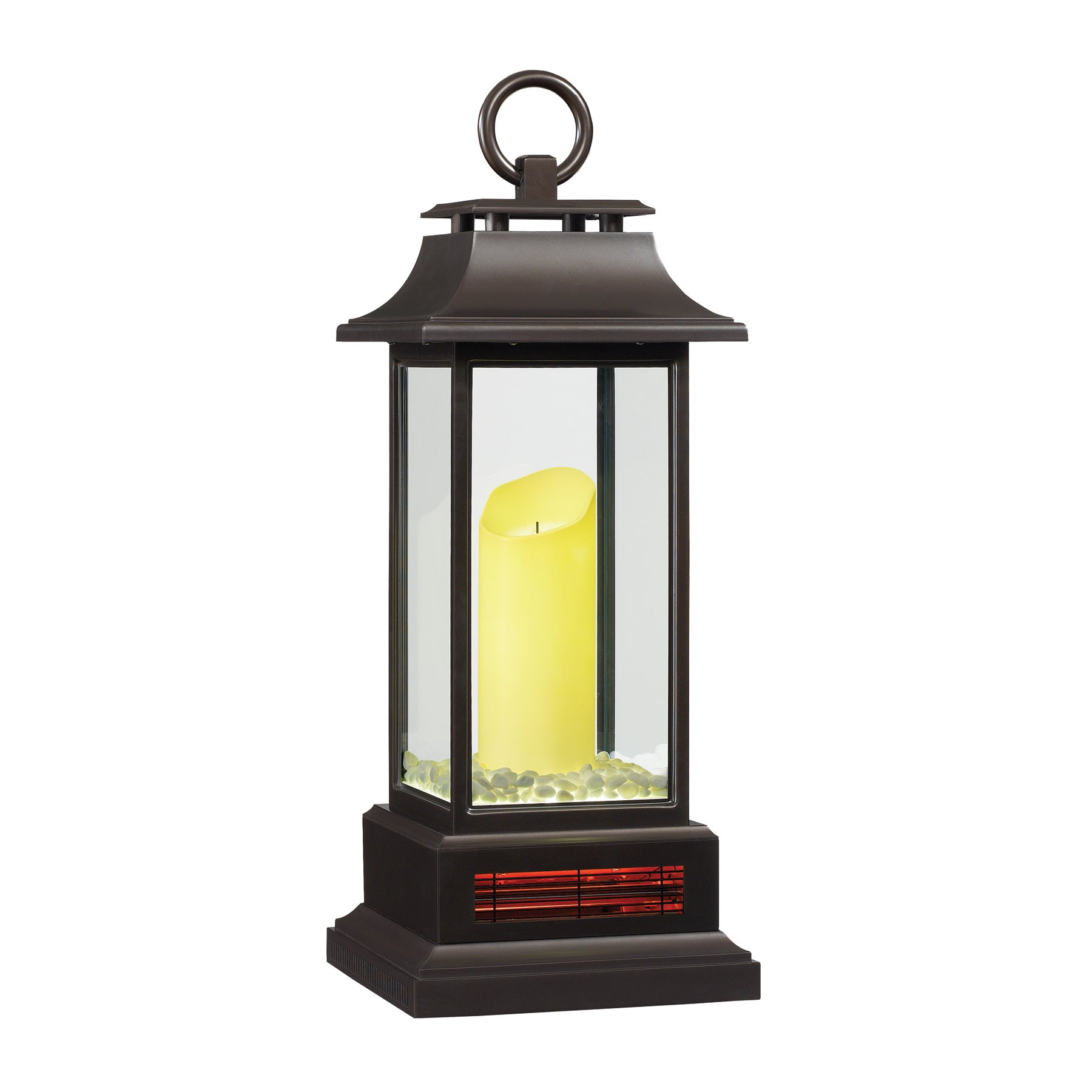 27-inch Portable LED Electric Flameless Candle Lantern with Quartz Infrared  Heater for Indoor Use, Bronze - Free Shipping Today - Overstock.com -  19564076