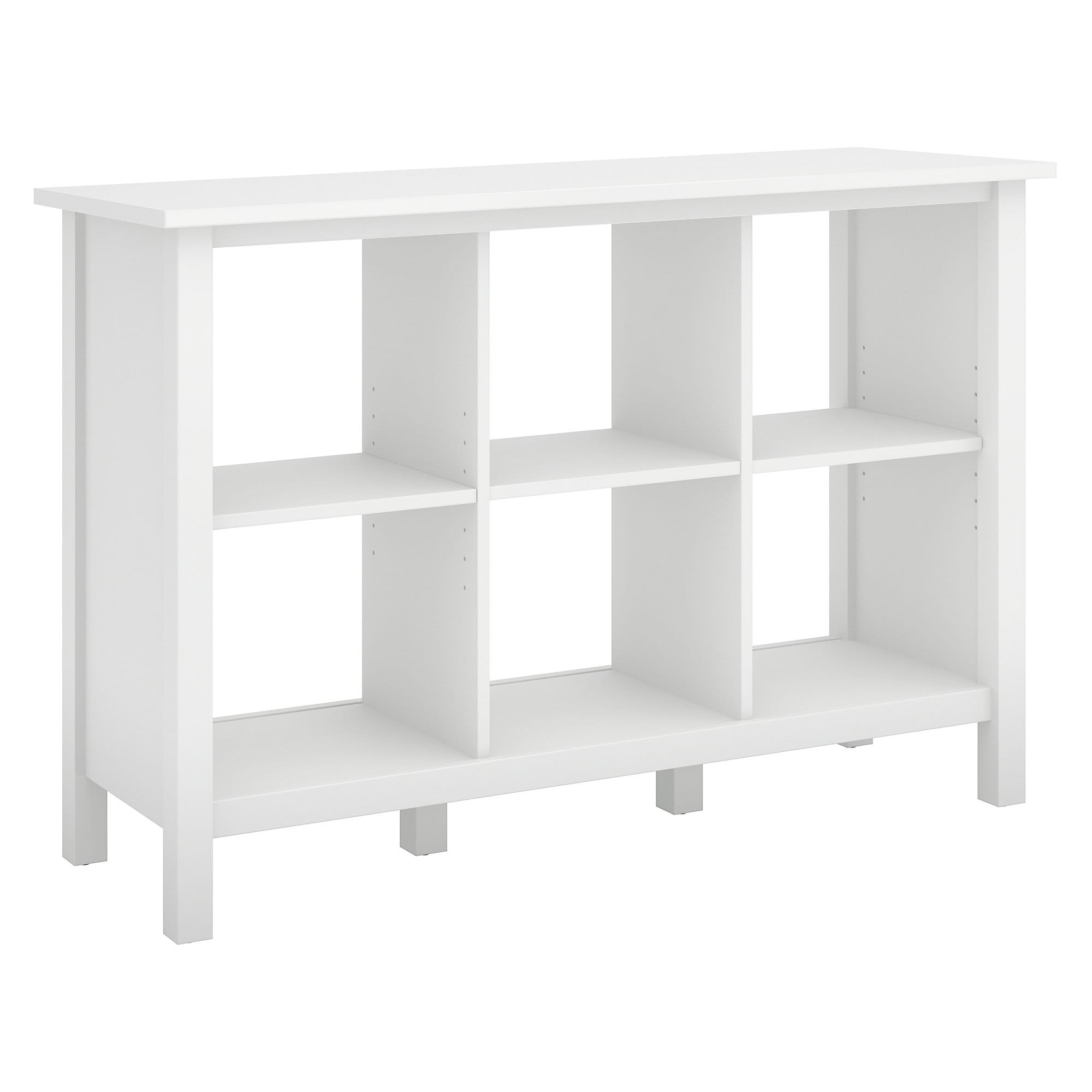 Bush Furniture Broadview 6 Cube Storage Bookcase In Pure White Free Shipping Today 19567599