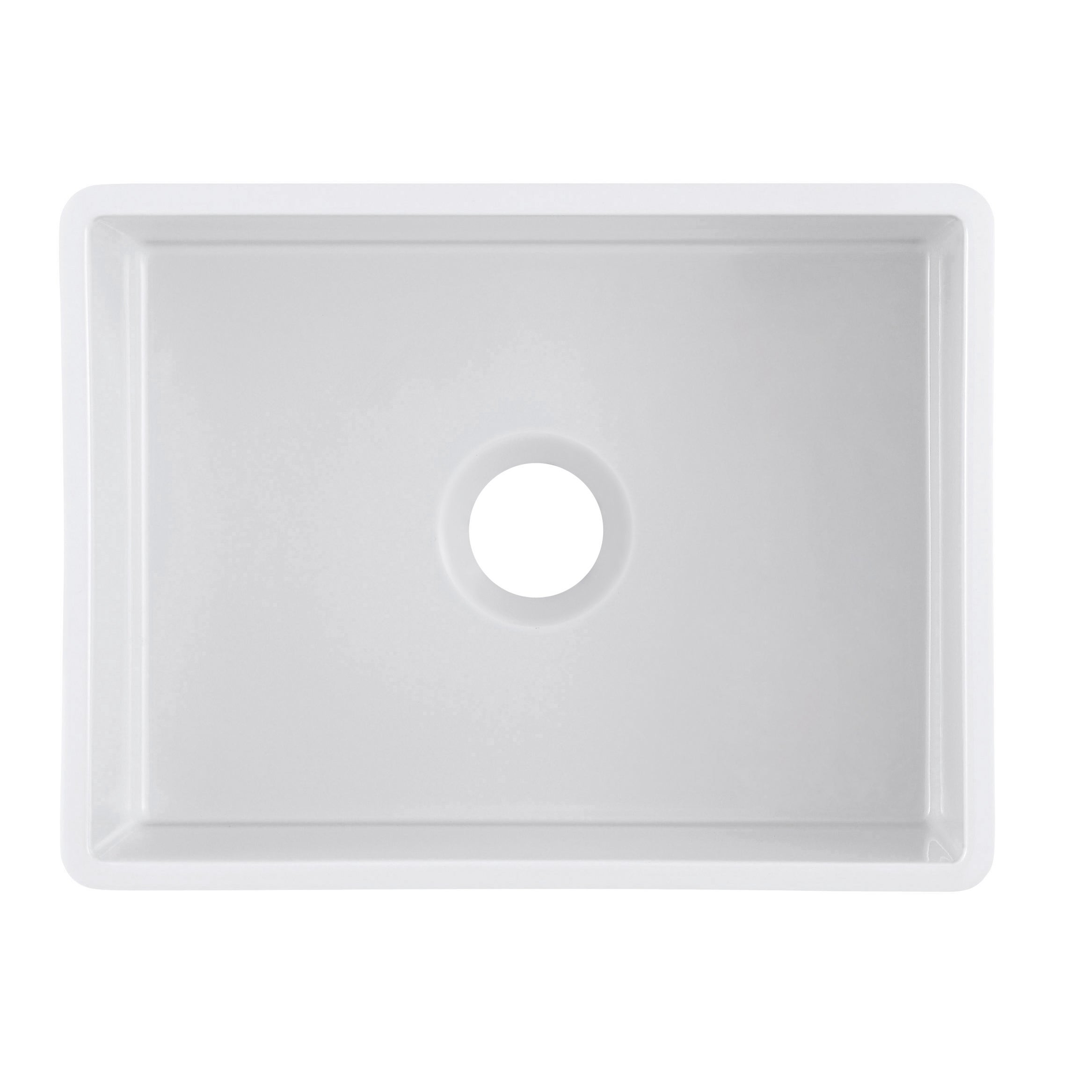 Shop olde london reversible farmhouse fireclay 24 in single bowl kitchen sink in white with grid and strainer on sale free shipping today overstock