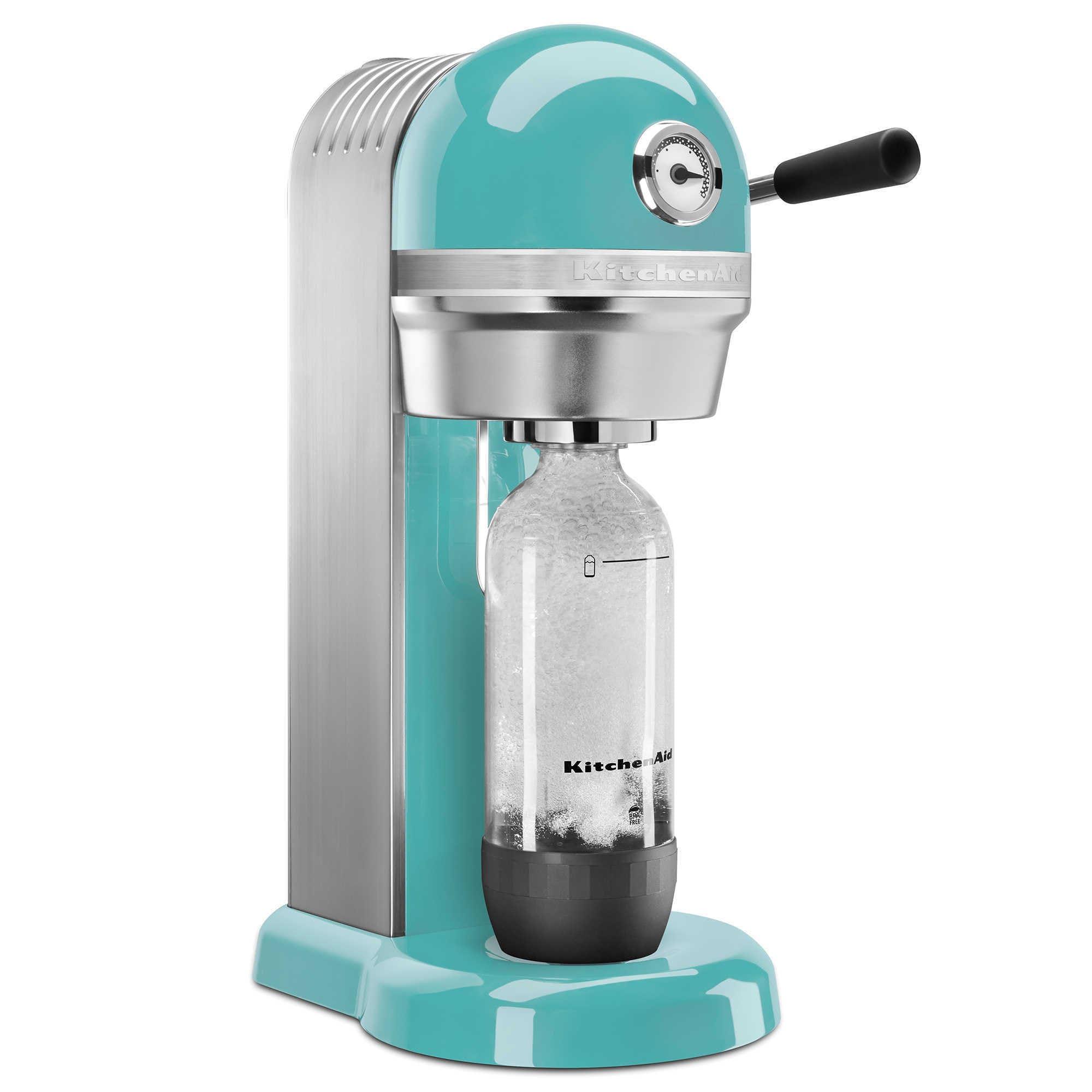 Shop KitchenAid KSS1121AQ Aqua Sky Sparkling Beverage Maker - Free ...