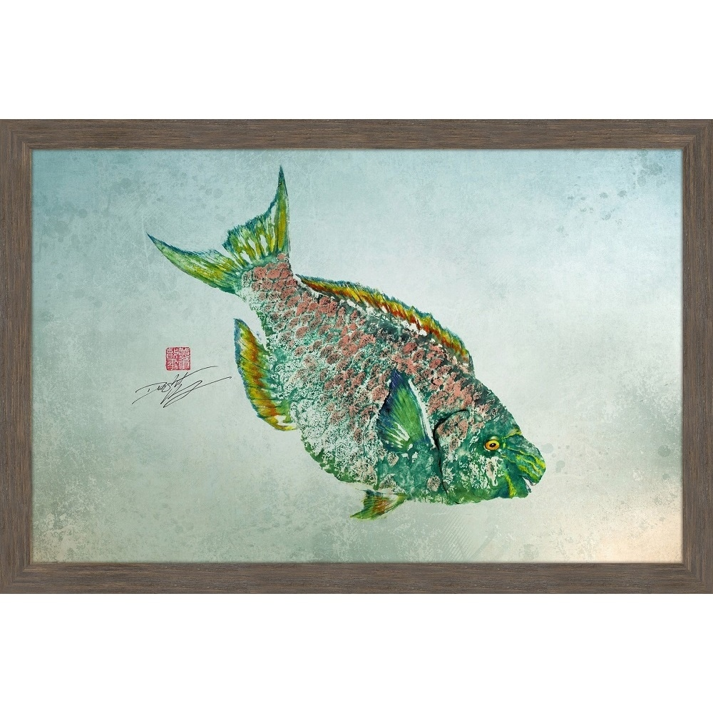 Shop Marmont Hill - \'Parrotfish Color\' by Dwight Hwang Framed ...