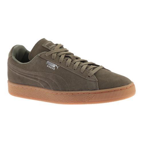 info for bfd61 37d49 Men's PUMA Suede Emboss Sneaker Burnt Olive/Gum