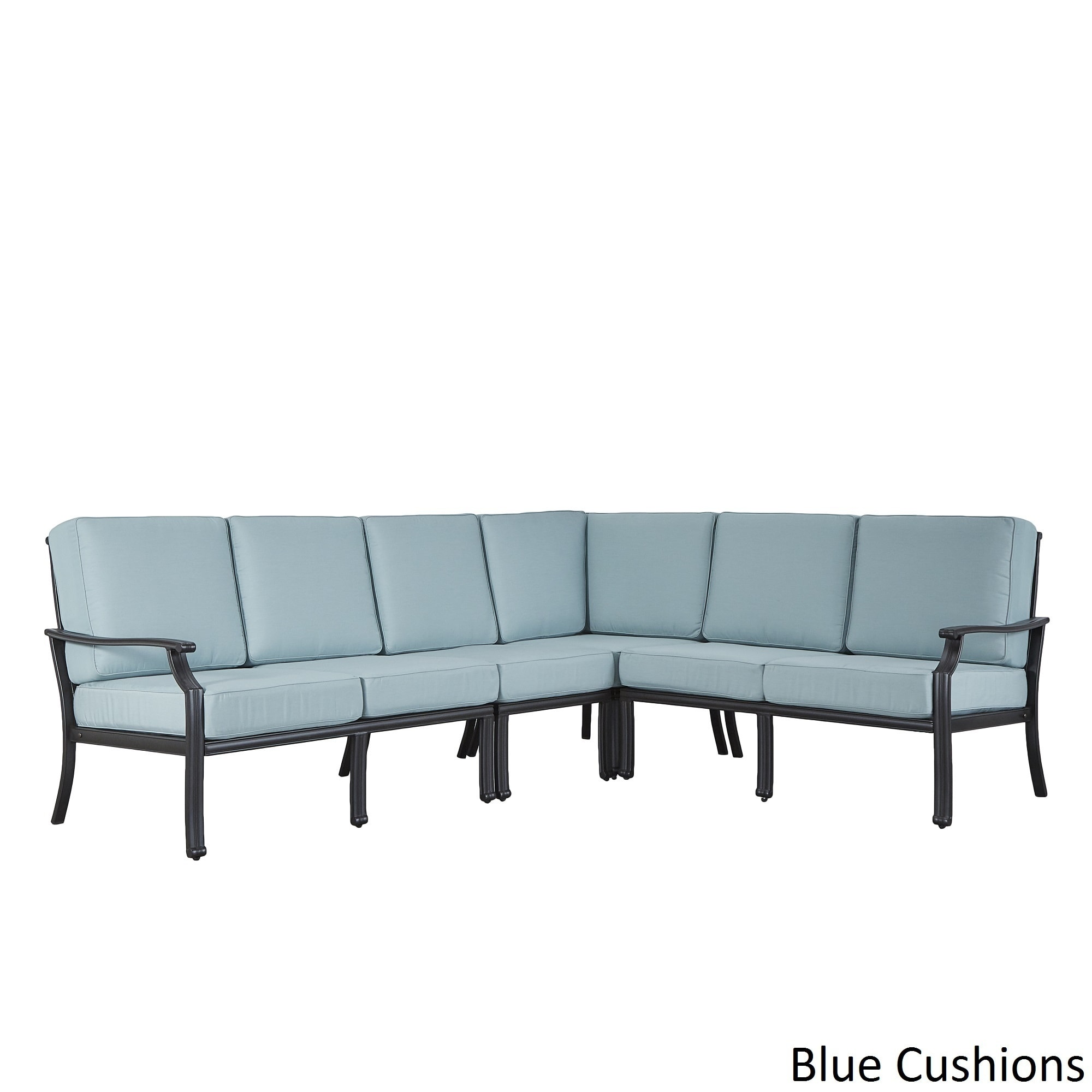 outdoor sectional metal for shop matira metal modern 6seat lshaped outdoor sectional by inspire oasis free shipping today overstockcom 12803287