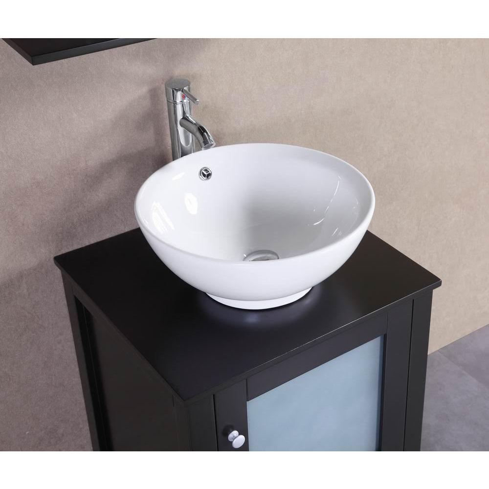 Shop Belvedere Espresso Oak/Ceramic 22-inch Freestanding Bathroom ...