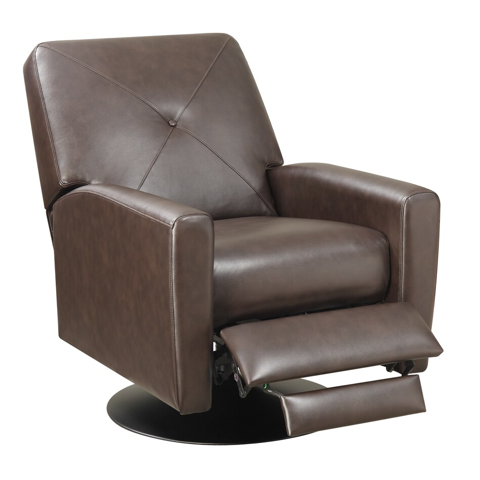 Wesley Black Base Swivel Recliner Chair On Free Shipping Today 12806113