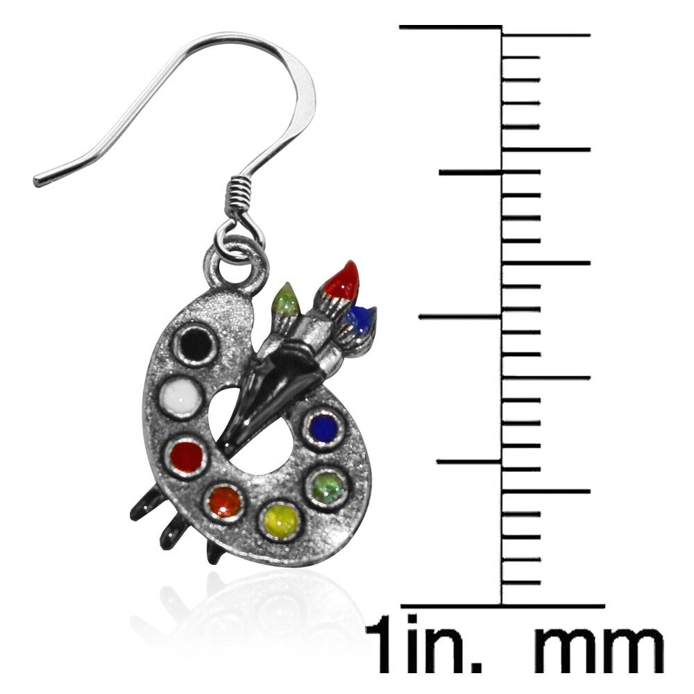 d64876e3bb4b8 Artist Palette Charm Earrings in Silver