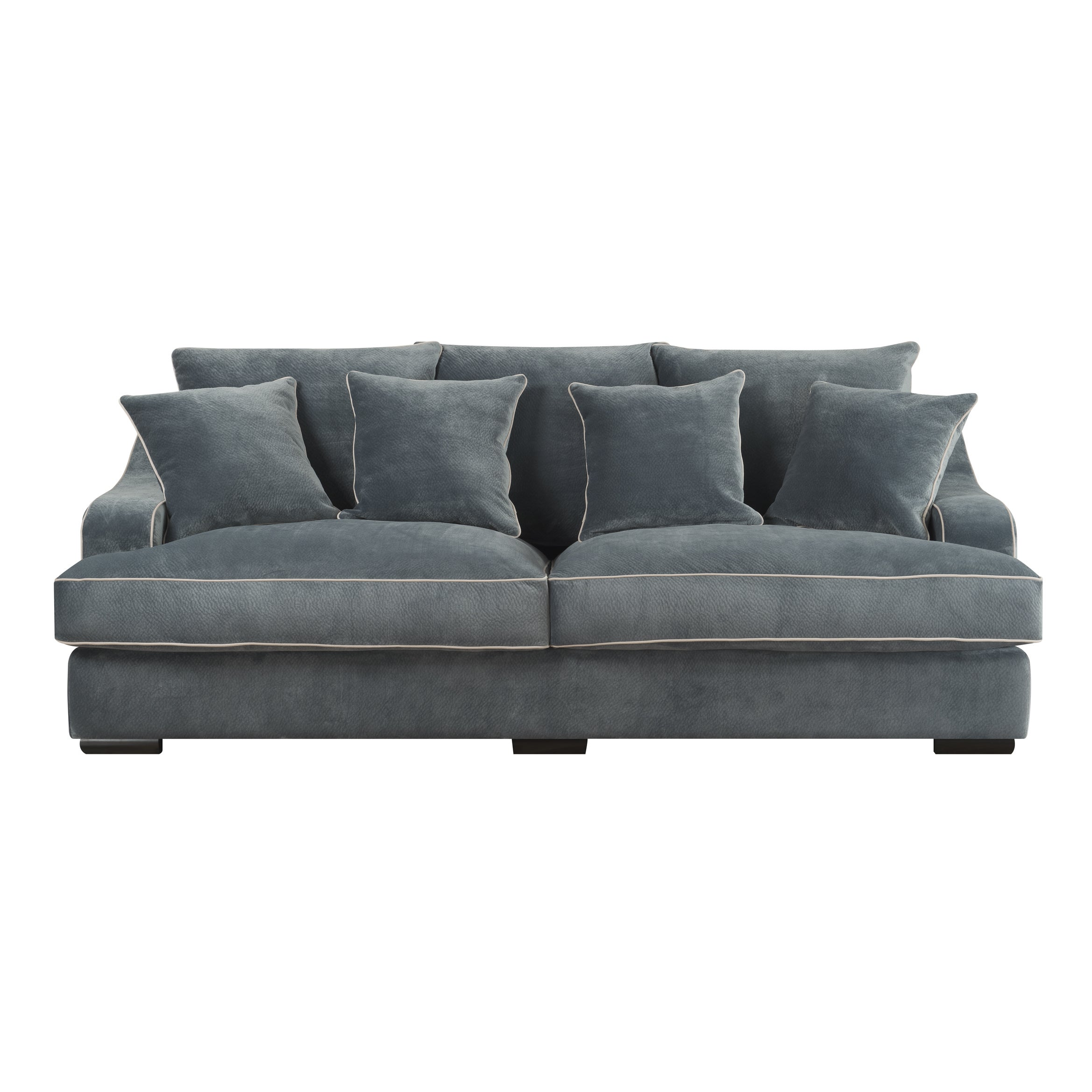 Shop Emerald Caresse Marine Blue Plush Oversized Sofa   Free Shipping Today    Overstock.com   12806152