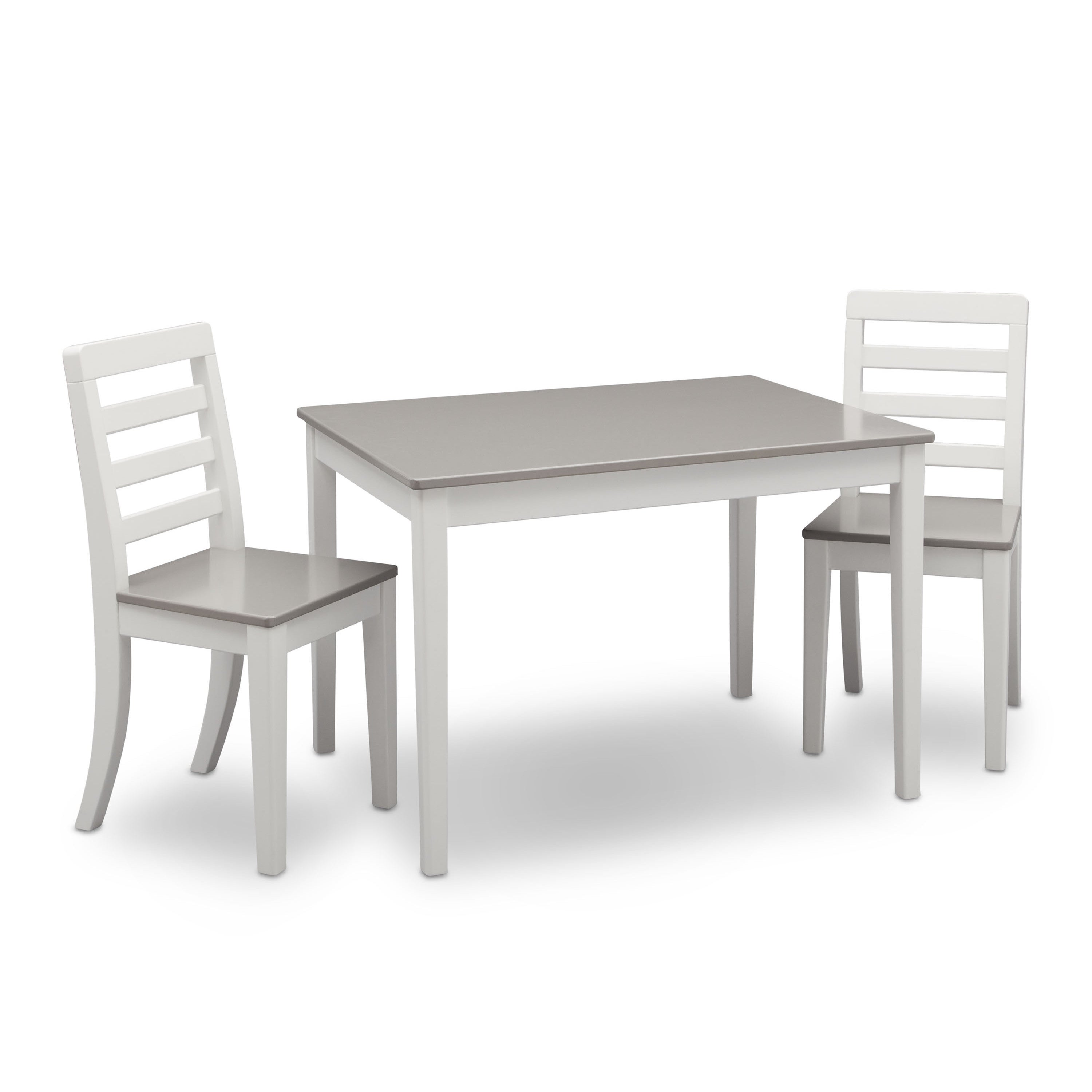 Shop Delta Children 3-piece Grey and White Table and Chairs Set - Free Shipping Today - Overstock.com - 12806788  sc 1 st  Overstock.com & Shop Delta Children 3-piece Grey and White Table and Chairs Set ...
