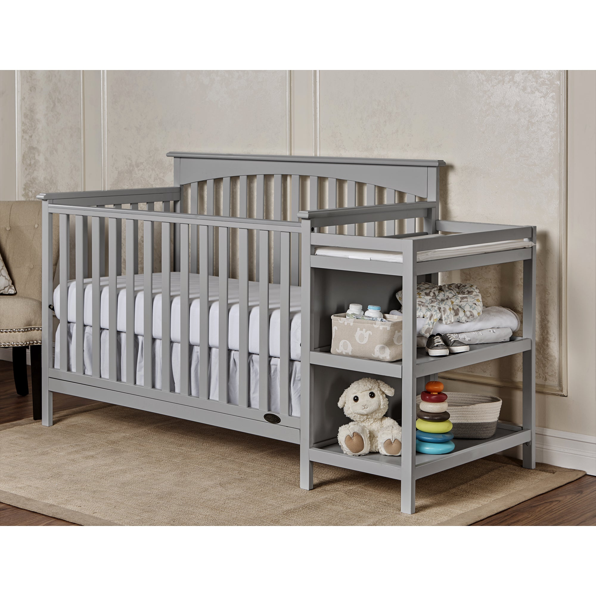 and storkcraft crib table choice portofino convertible changing in changer cribs with co mattress value bundle