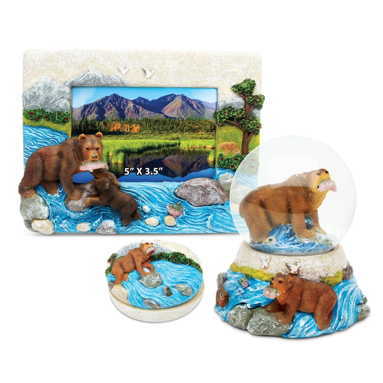 0cd5be3cd6425 Shop Home Decor Value Pack Grizzly Bear Resin Stone collection - Set ...