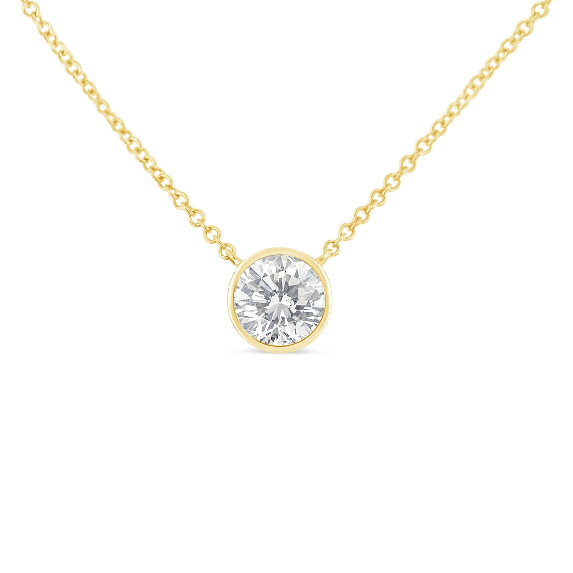 gold necklace whitegold diamond bezel headview marquise pendant white set